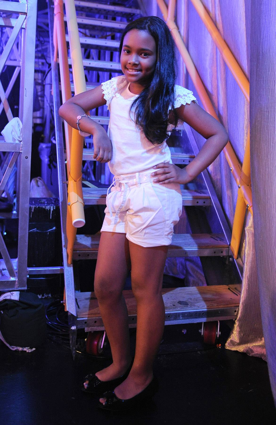 Lil girl posing. - Briana, who appears in the latest Lil Niqo video at 106 & Park, May 16, 2012. (Photo: John Ricard / BET)