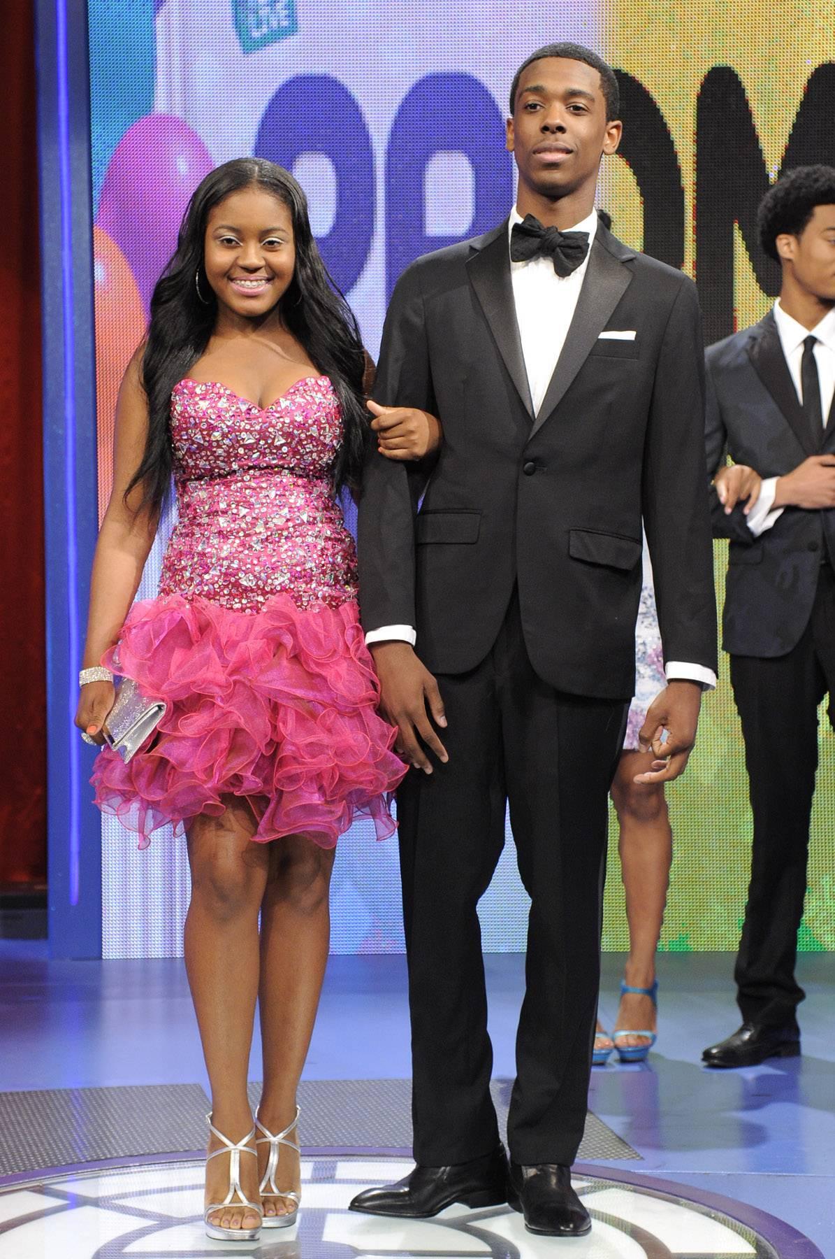 Coupled up - Prom Night fashion show at 106 & Park, May 16, 2012. (Photo: John Ricard / BET)