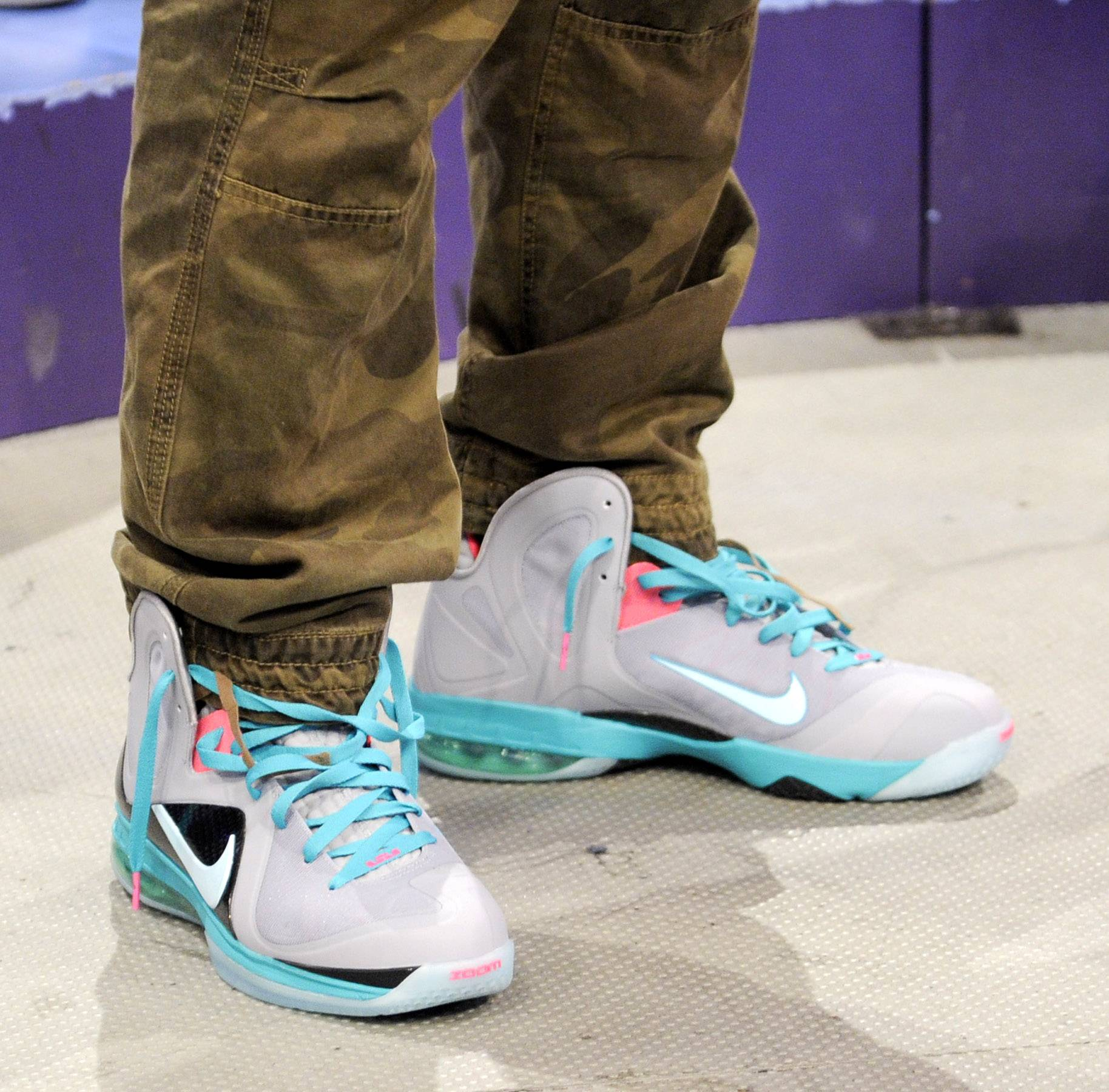 Shoe game crazy - Kyrie Irving at 106 & Park, May 16, 2012. (Photo: John Ricard / BET)