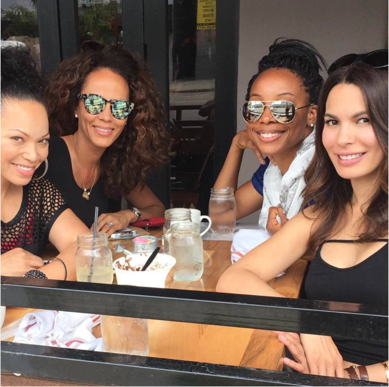 The Real Women Hung Out - What could they have possibly discussed?  (Photo: Erica Ash via Instagram)