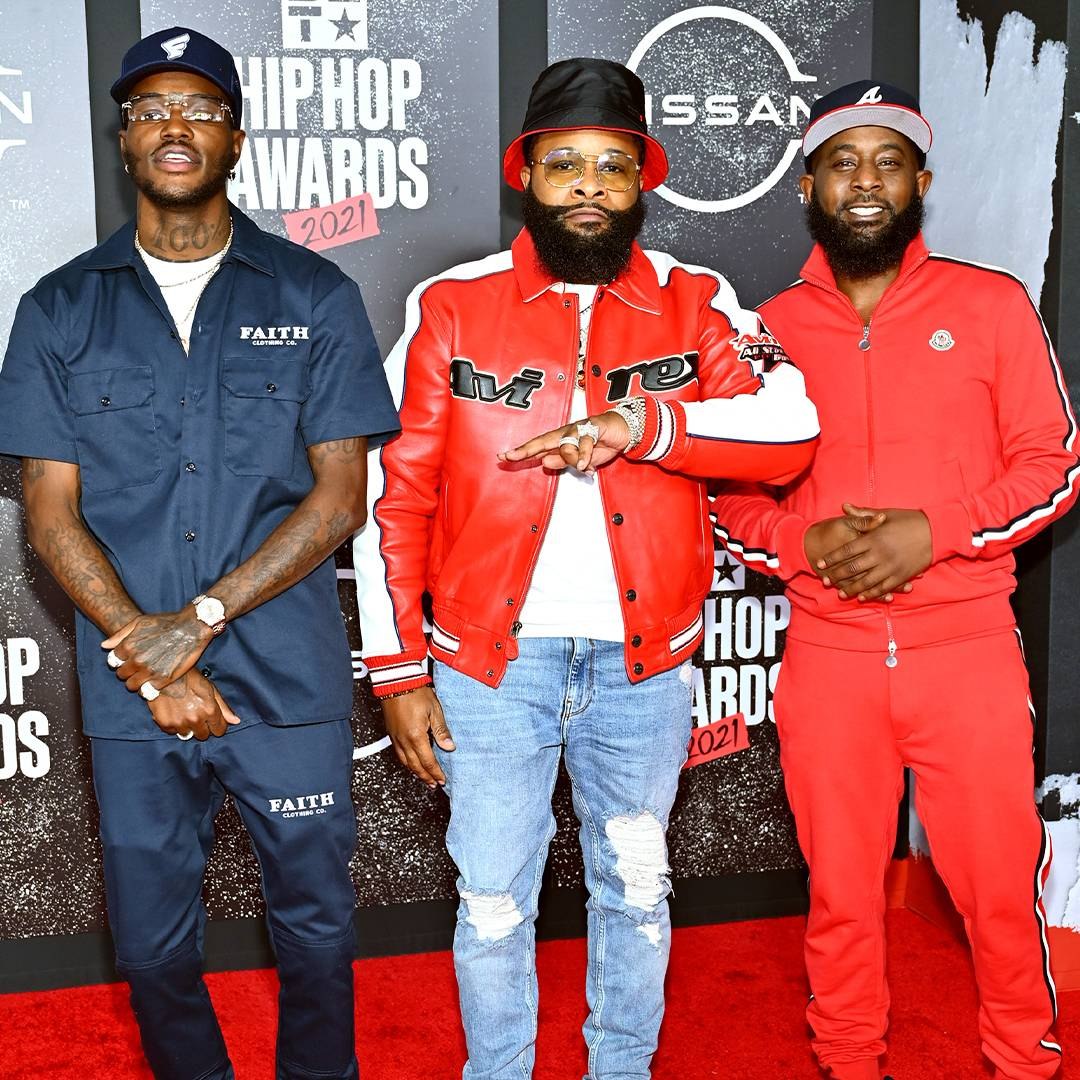 BET Hip Hop Awards 2021 | Red Carpet Hosts DC Young Fly, Chico Bean and Karlous Miller of 85 South | 1080 x 1080