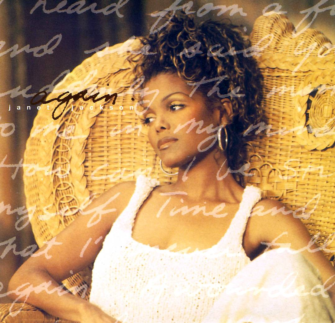 """""""Again"""" - In 1993, the Jimmy Jam and Terry Lewis song """"Again"""" was featured on the Poetic Justice soundtrack and sung by the star of the film, Janet Jackson. It was, of course, a number one hit.   (Photo: Virgin Records)"""