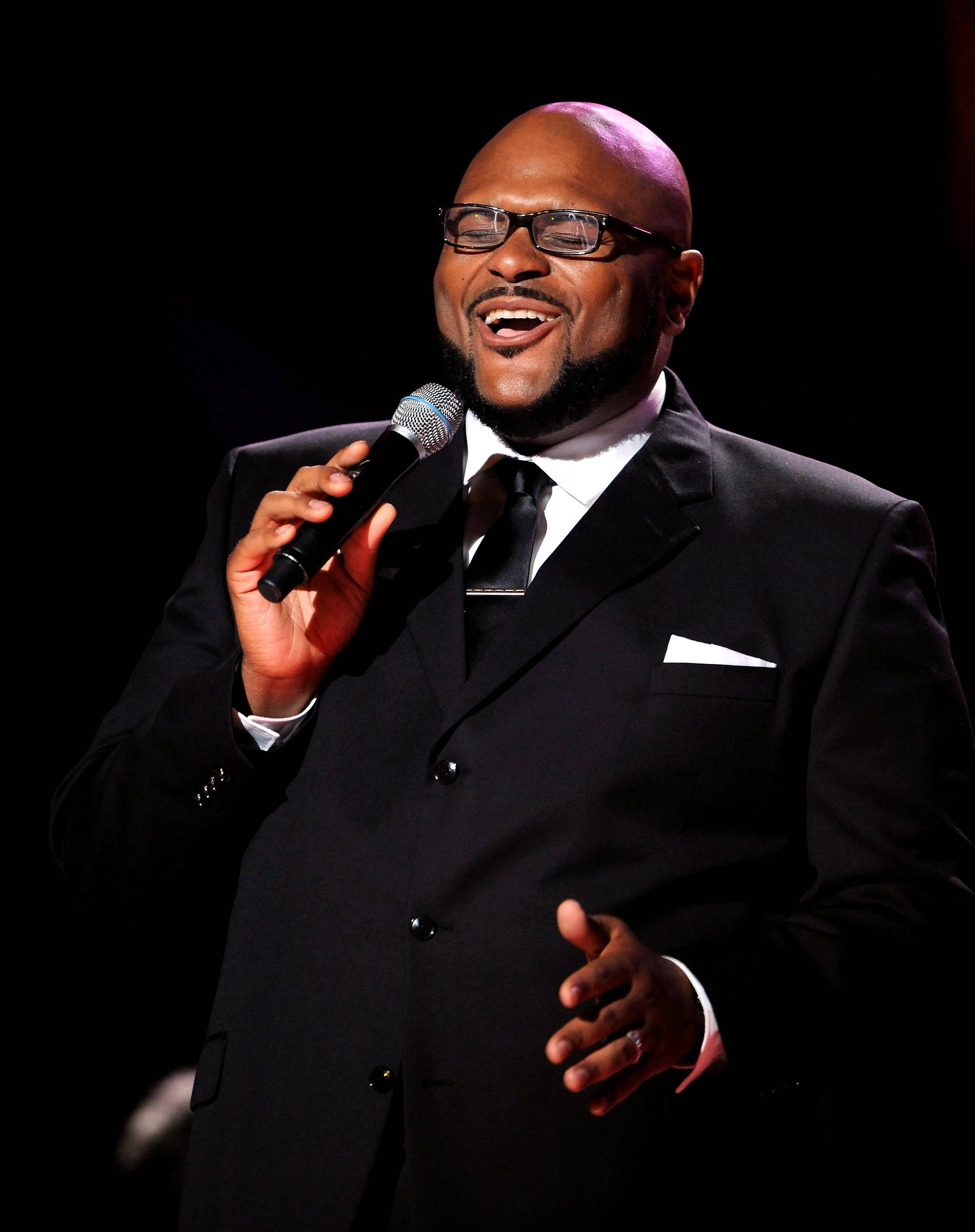 """Ruben Studdard - American Idol winner Ruben Studdard joined BET for the 5th Annual Celebration of Gospel, performing his hit """"I Need An Angel.""""(Photo: Tom Donoghue/PictureGroup)"""