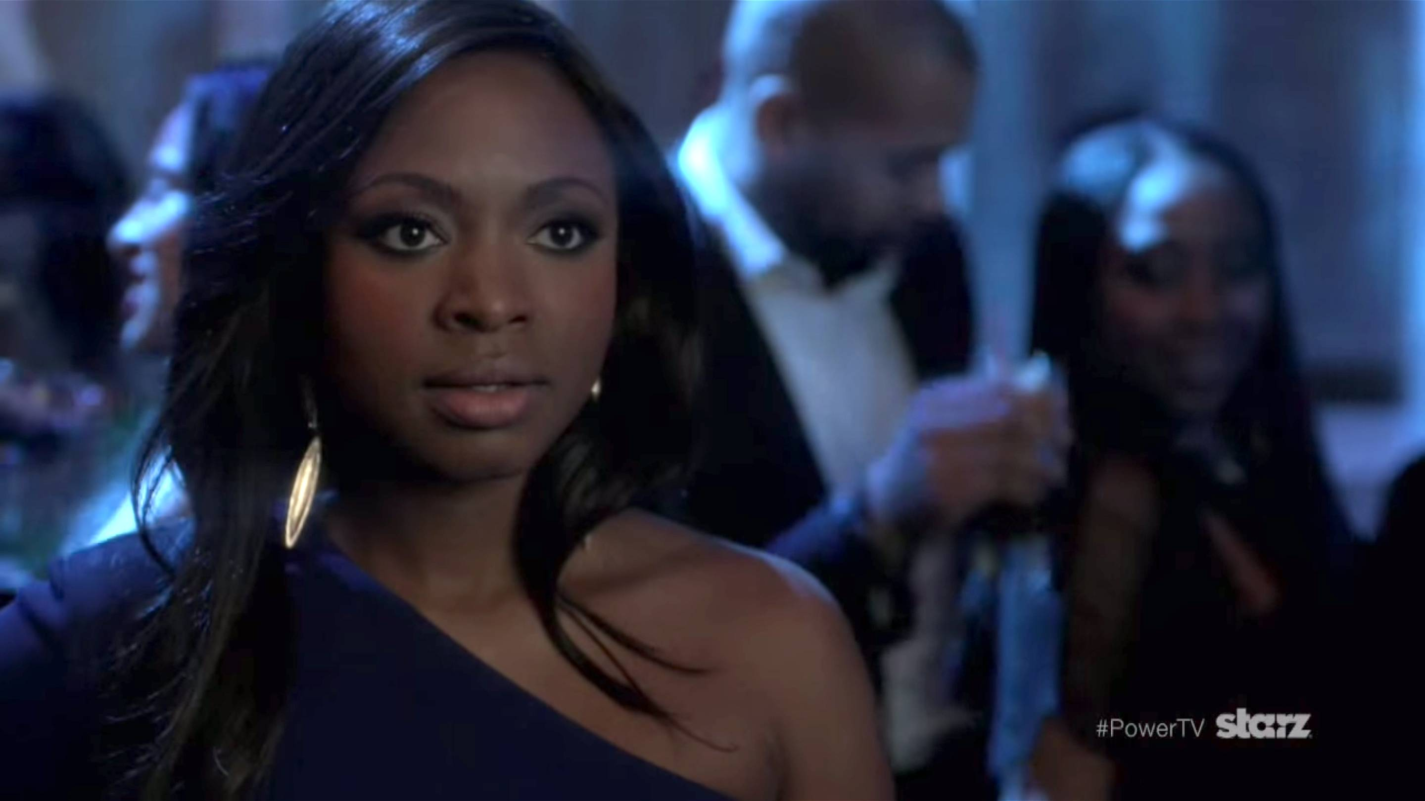 Unbothered - Even after seeing her husband talking to his ex, Tasha holds herself together.   (Photo: Starz)