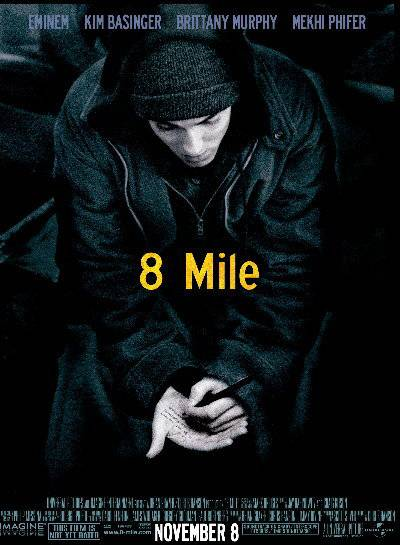 Eminem, 8 Mile - Slim shattered expectations with his star turn in the semi-autobiographical film 8 Mile.(Photo: Universal Pictures)