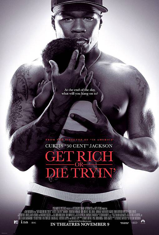 50 Cent, Get Rich or Die Tryin' - Fif followed Em's 8 Mile blueprint by launching his own film career with this 2005 film that closely mirrors his life.(Photo: Paramount Pictures)