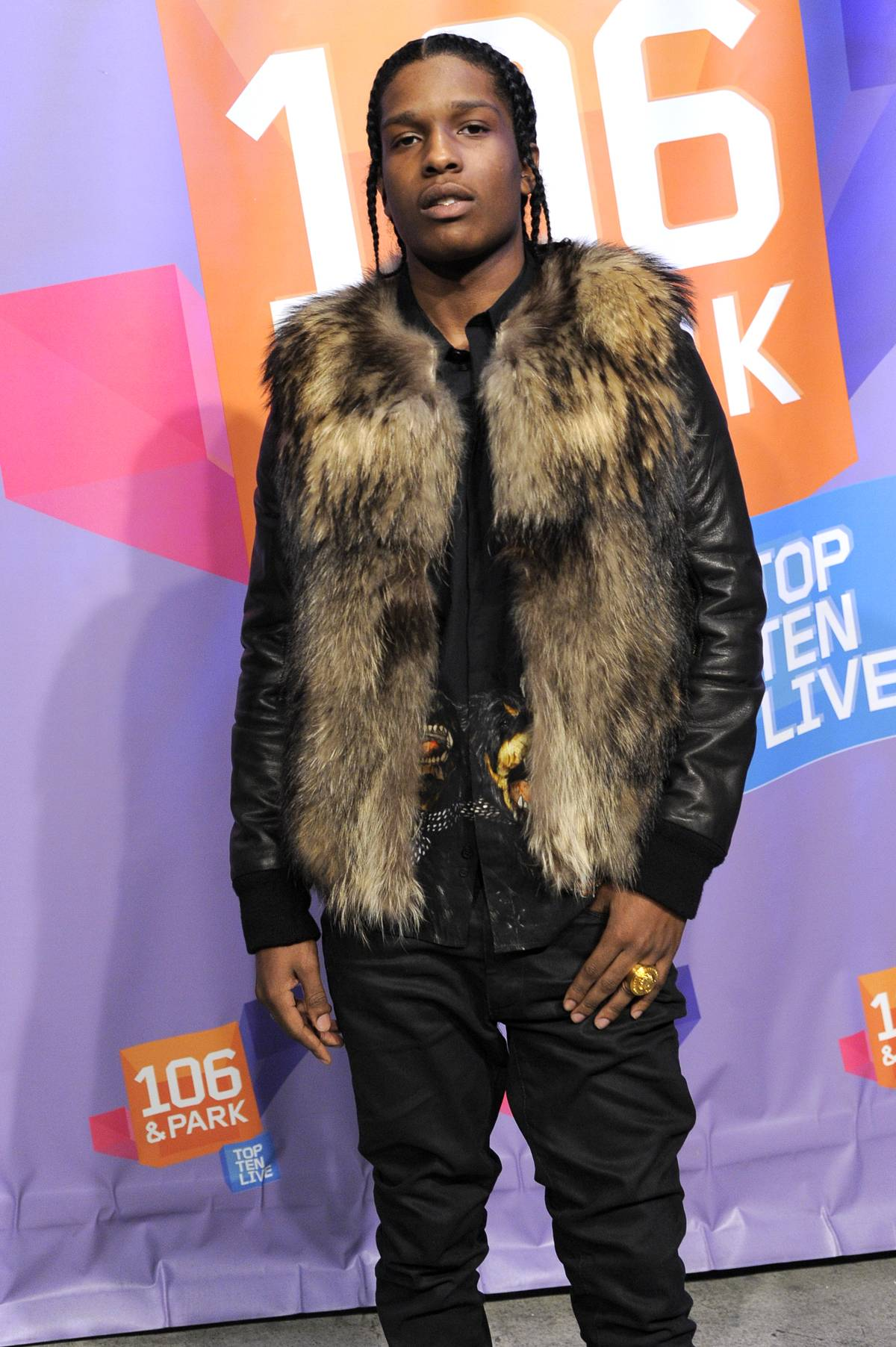 10 Things You Should Know About A$AP Rocky - Rocky counts Harlem icons Dipset as a huge influence on his music, but also looks outside of the city for inspiration?to Bone Thug N Harmony's flow, to UGK's funk edge, and Three Six Mafia's syrupy sonics. (Photo: John Ricard / BET)