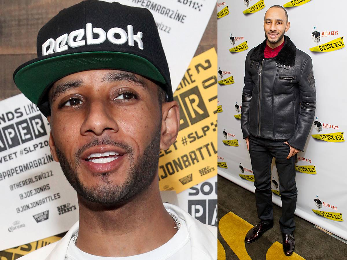 Swizz Beatz - We love Swizz Beatz?sfull beard extending into his sideburns. This is not a do-it-yourself look. We recommend seeking the help of an expert barber to get an even line-up.  Style Tip: The super producer works wonders with a bomber jacket, a top trend this season.  (Photos: Astrid Stawiarz/Getty Images; Michael Stewart/WireImage/Getty Images)