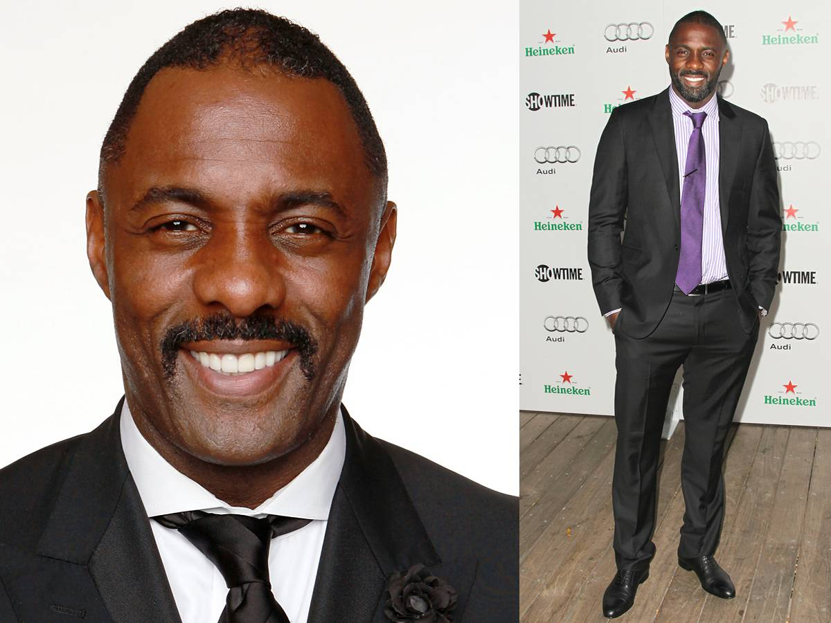 Idris Elba - Recent Golden Globe winner Idris Elba is opting for one thick moustache these days. Keep it neat, clean and expertly trimmed.  Style Tip: The actor frequently goes back and forth between his casual look and a more distinguished ensemble. Make sure you seek the help of a tailor for a more customized fit.  (Photos: Christopher Polk/Getty Images; Frederick M. Brown/Getty Images)