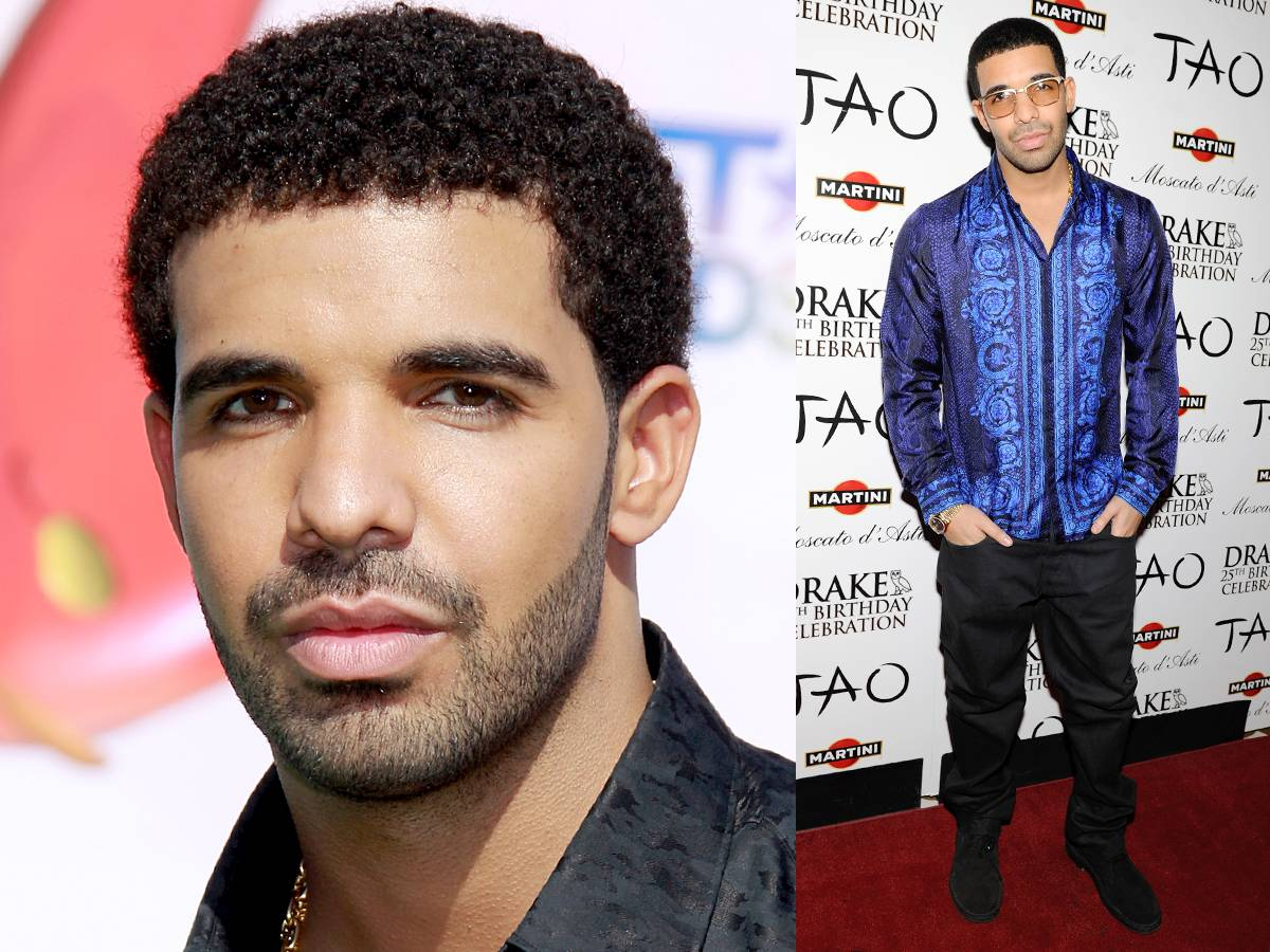 Drake - Take a cue from Drake?s book and wear a scruffy look with just enough hair to look like you missed two days? worth of shaving.   Style Tip: Pair it with this season?s color of the moment and you?re ready to hit the club.  (Photos: Michael Underwood/PictureGroup; David Becker/WireImage)
