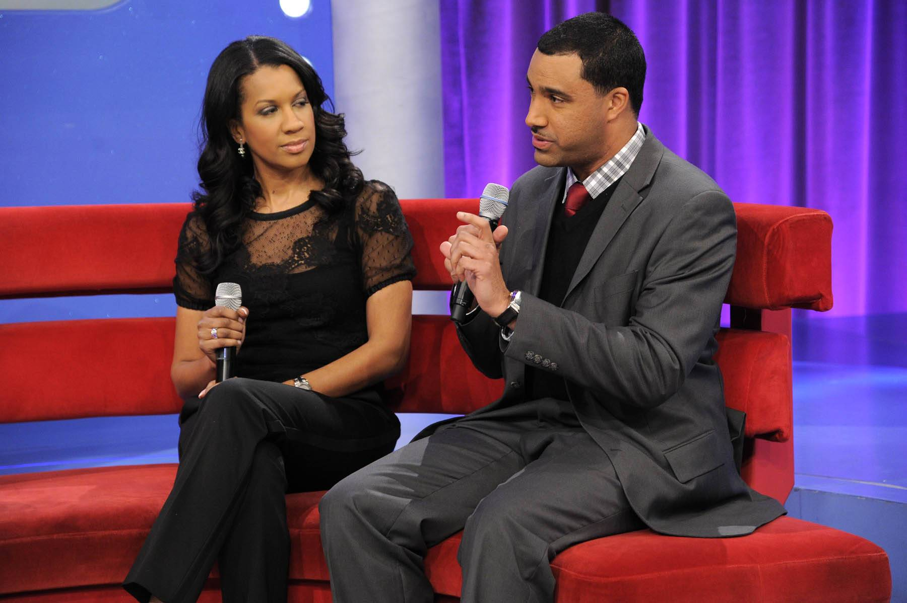 Listen Up - Dr. Michelle and Dr. Tarrt talk with Don Trip at 106 & Park, January 30, 2012. (Photo: John Ricard / BET)