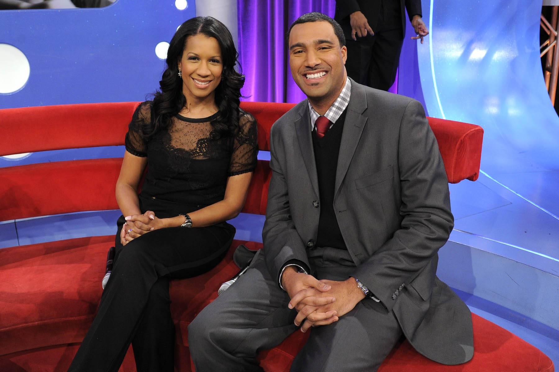 Good to Go - Dr. Michelle and Dr. Alduan Tarrt at 106 & Park, January 30, 2012. (Photo: John Ricard / BET)
