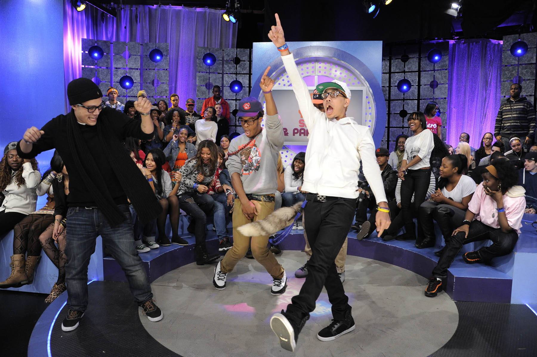 One Finger Up - Audience members at 106 & Park, January 30, 2012. (Photo: John Ricard / BET)