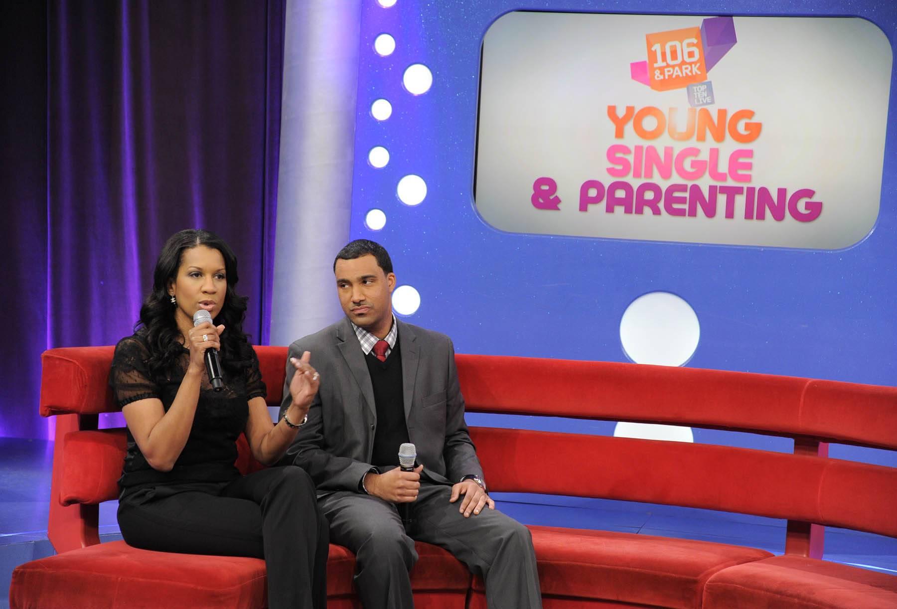 The Pros - Dr. Michelle and Dr. Alduan Tarrt at 106 & Park, January 30, 2012. (Photo: John Ricard / BET)