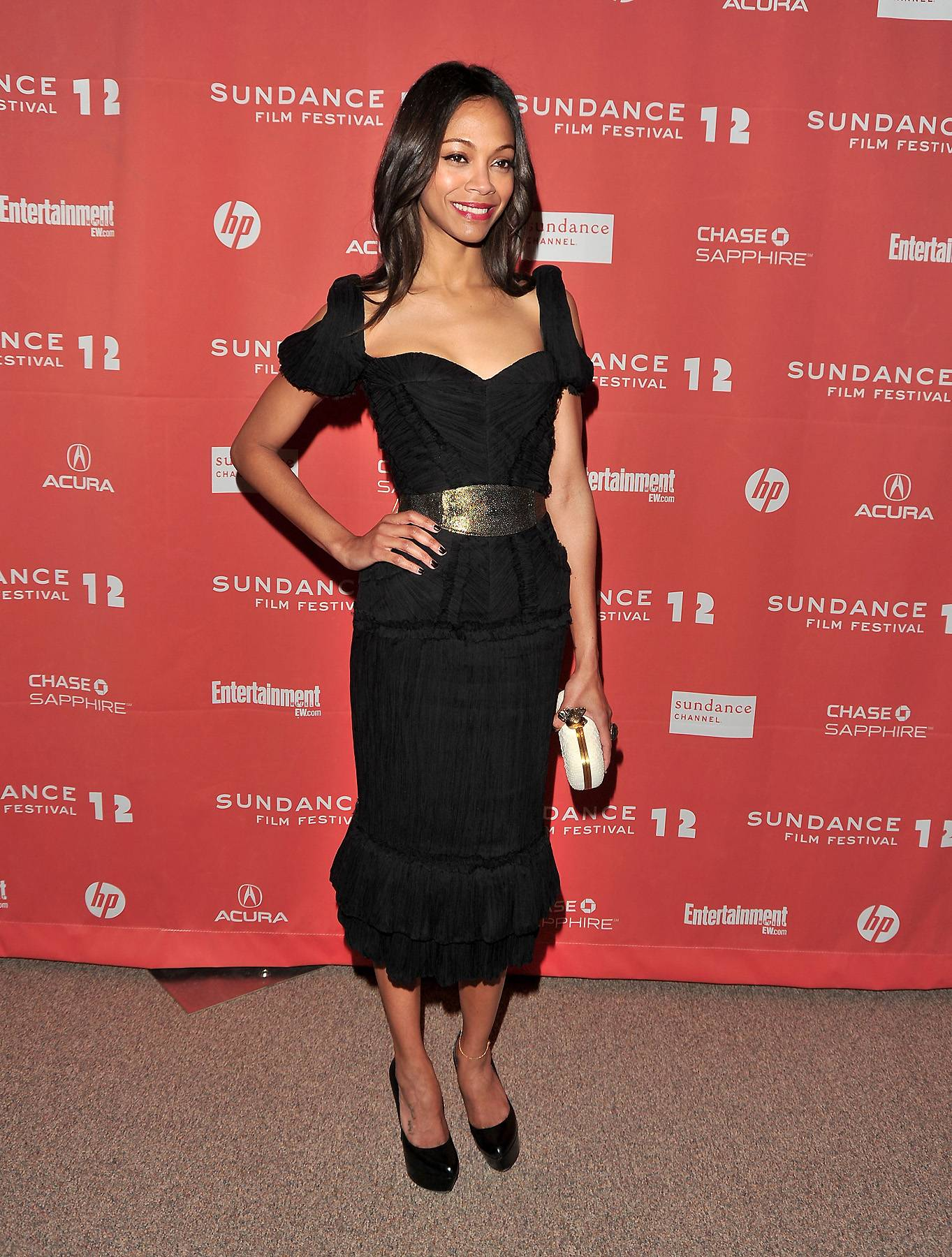 Zoe Saldana - She looks like a model, so there's no doubt that Zoe Saldana is the perfect canvas for June Ambrose.(Photo: George Pimentel/Getty Images)