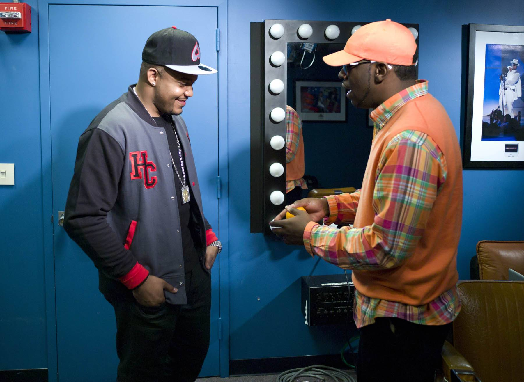 It's Going Down - DJ Boof and Young Dro in the green room at 106 & Park, January 27, 2012. (Photo: John Ricard / BET)