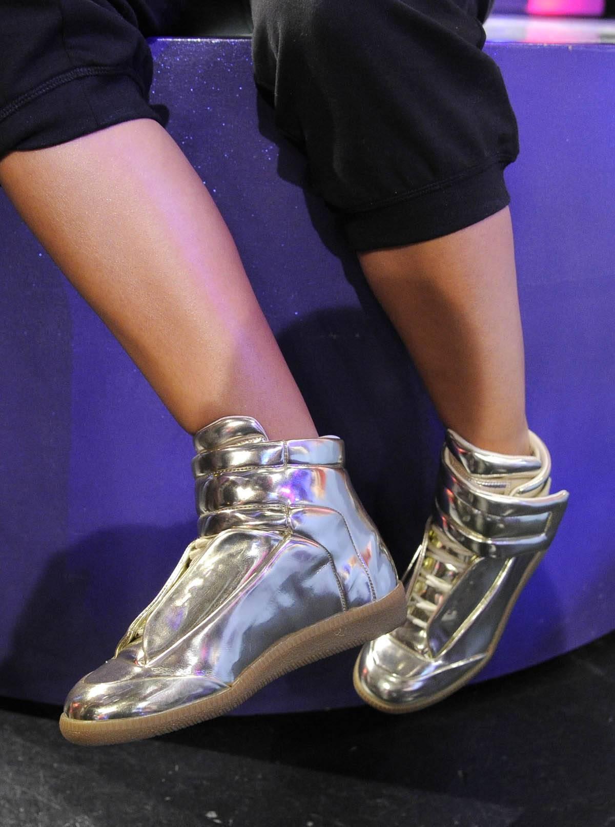 Kicks Go Hard - Rocsi Diaz at 106 & Park, January 27, 2012. (Photo: John Ricard / BET)
