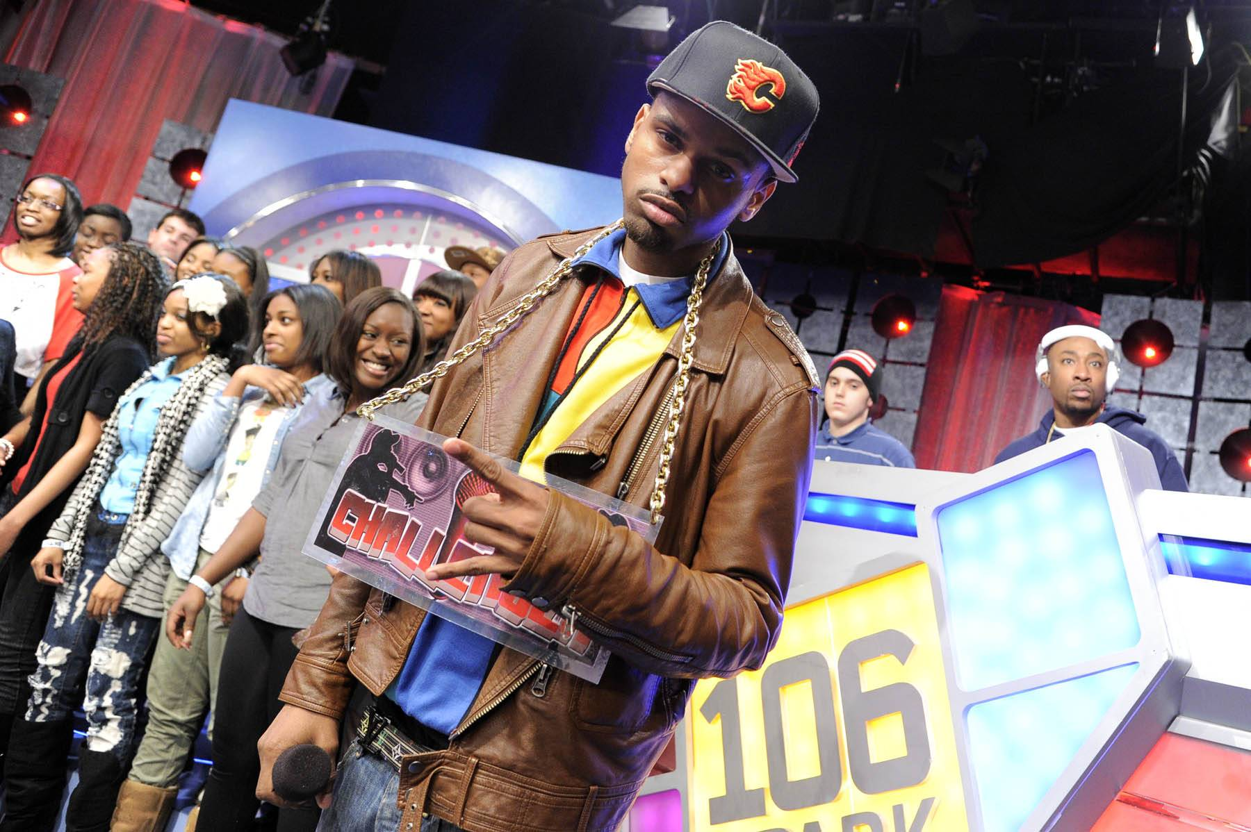 It's Rio, Homie - Freestyle Friday challenger J. Dose, who hails from Philadelphia, PA, at 106 & Park, January 27, 2012. (Photo: John Ricard / BET)