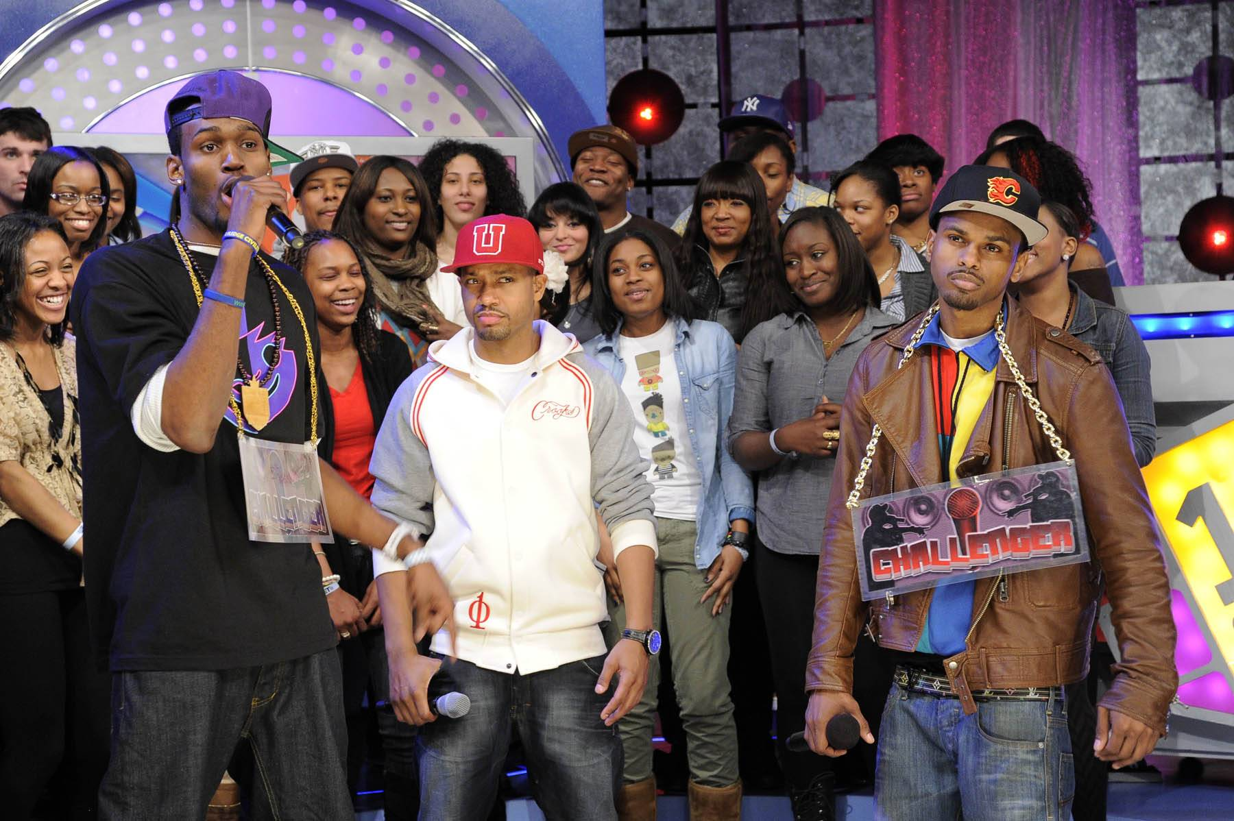 You Don't Know Me - In round two, Freestyle Friday challenger Rio the Raptor spits at 106 & Park, January 27, 2012. (Photo: John Ricard / BET)