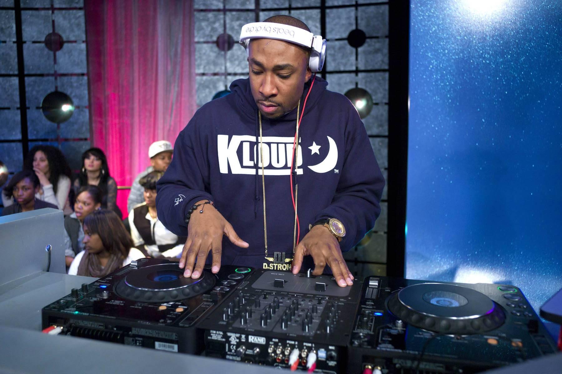 Spinning All Night - DJ Strong at 106 & Park, January 27, 2012. (Photo: John Ricard / BET)
