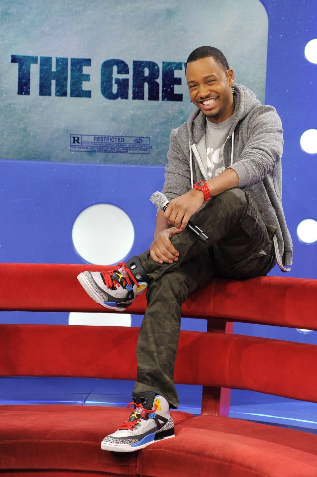 All Laughs - Terrence J at 106 & Park, January 26, 2012. (Photo: John Ricard / BET)
