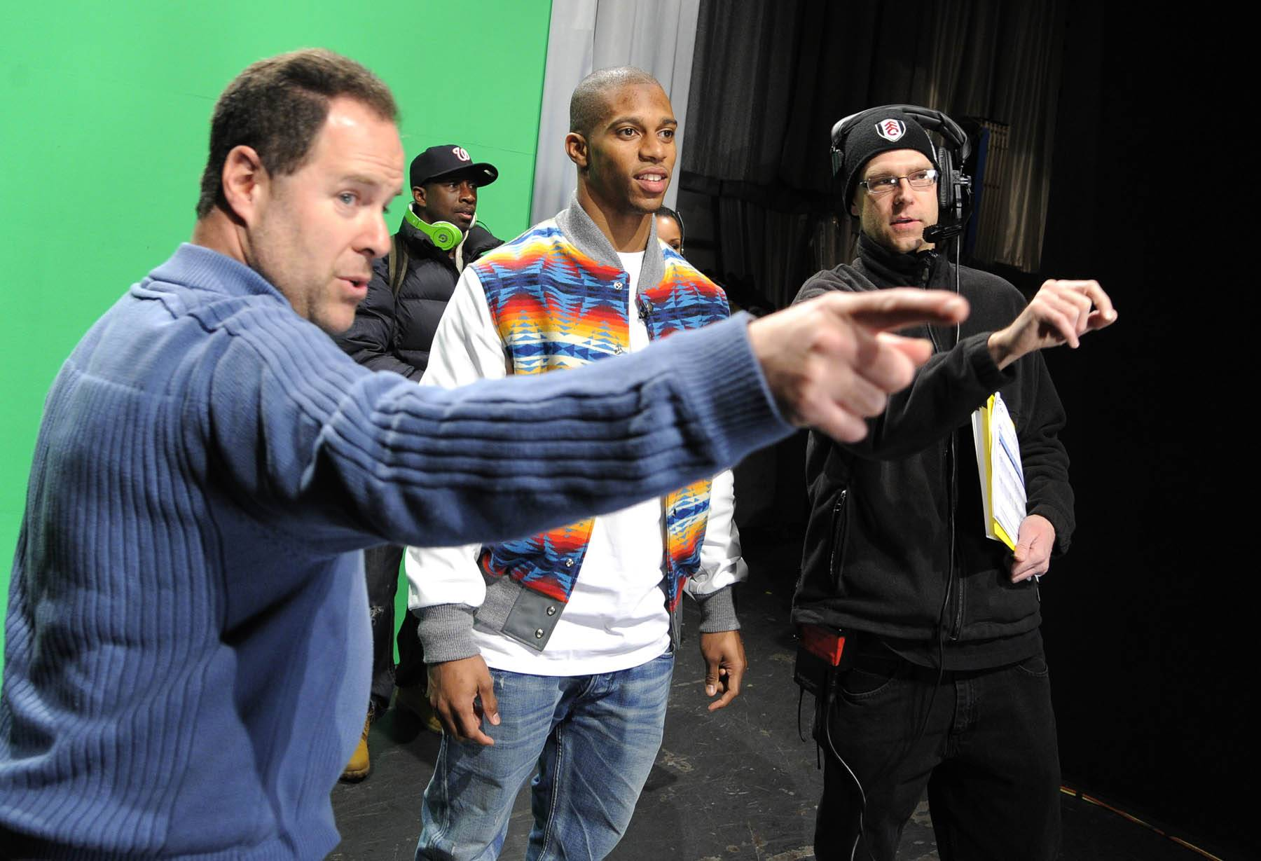 Right There - Victor Cruz of the New York Giants visits 106 & Park. (Photo: John Ricard / BET)