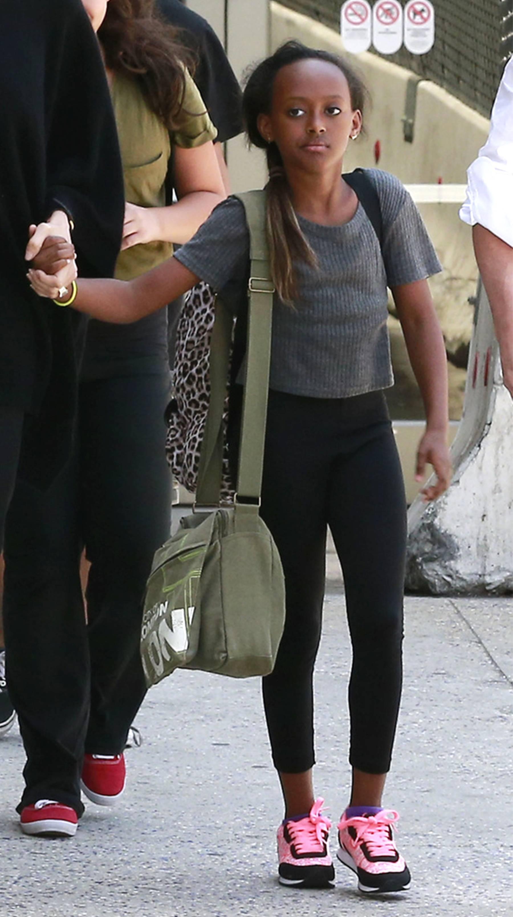 Zahara Jolie Pitt - Is she smizing?   (Photo: PacificCoastNews)