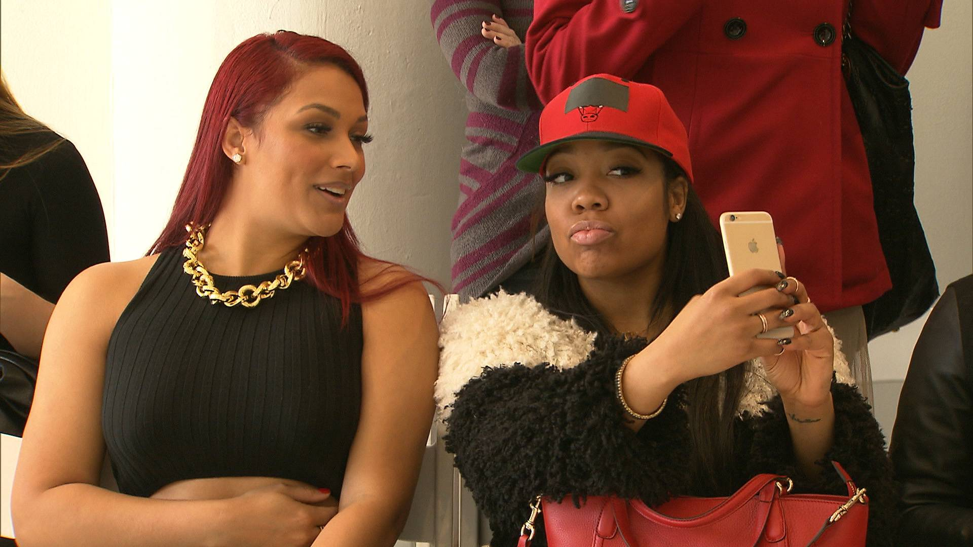 But First... - When Nana visited Stink to see her work it on the runway...but first took a selfie.   (Photo: BET)