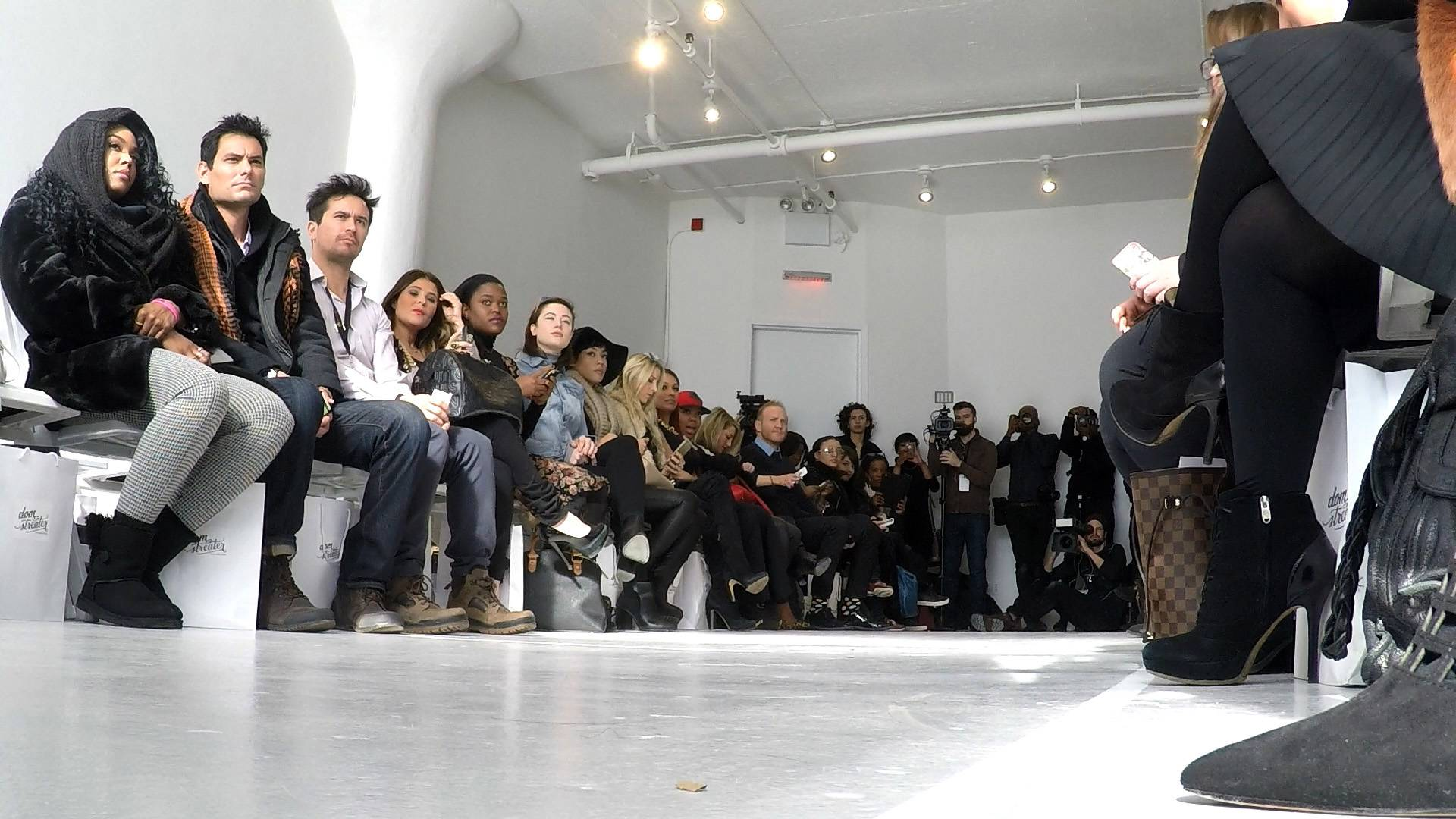 Just Waiting - The audience sat and waited for the anticipation to build before we saw Stink hit the runway.  (Photo: BET)