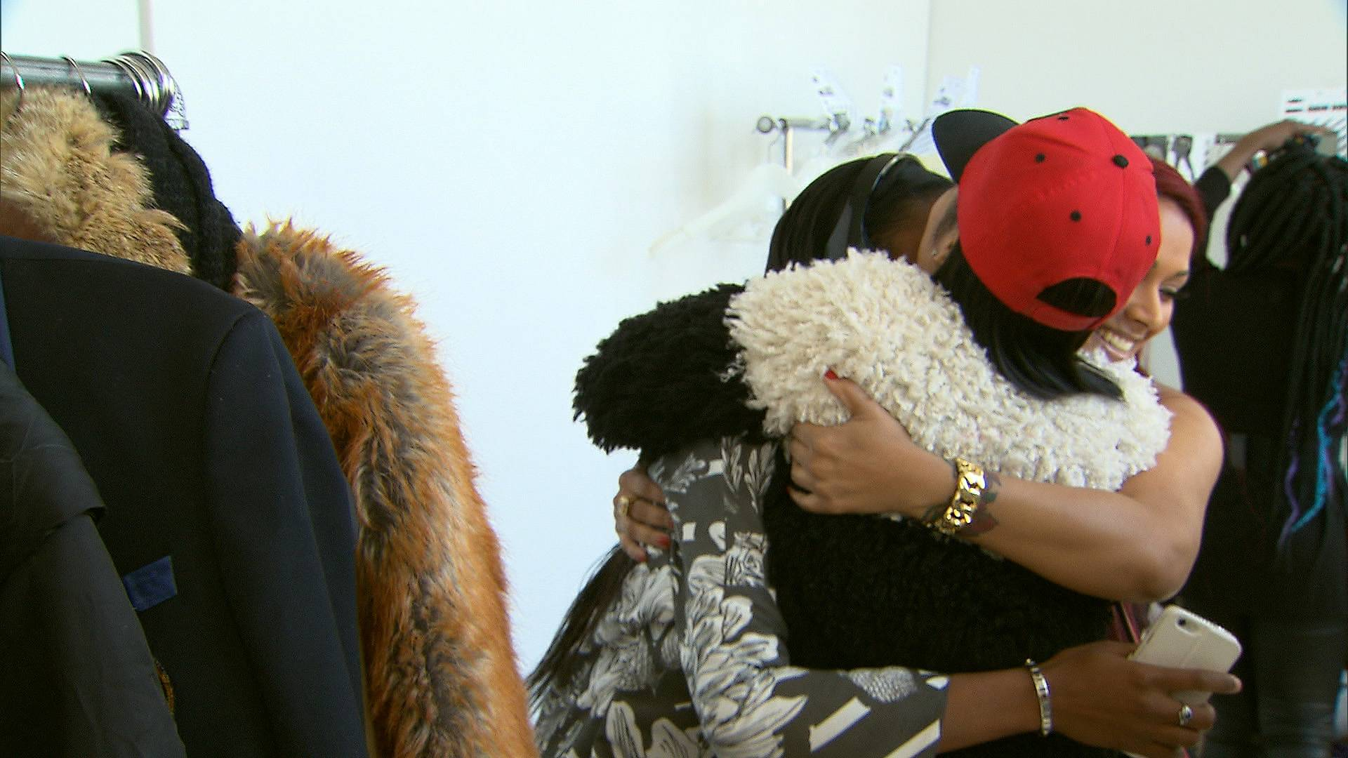 Spreading the Love - When Nana and Miss Jackson congratulated Stink for killing it on the runway. (Photo: BET)