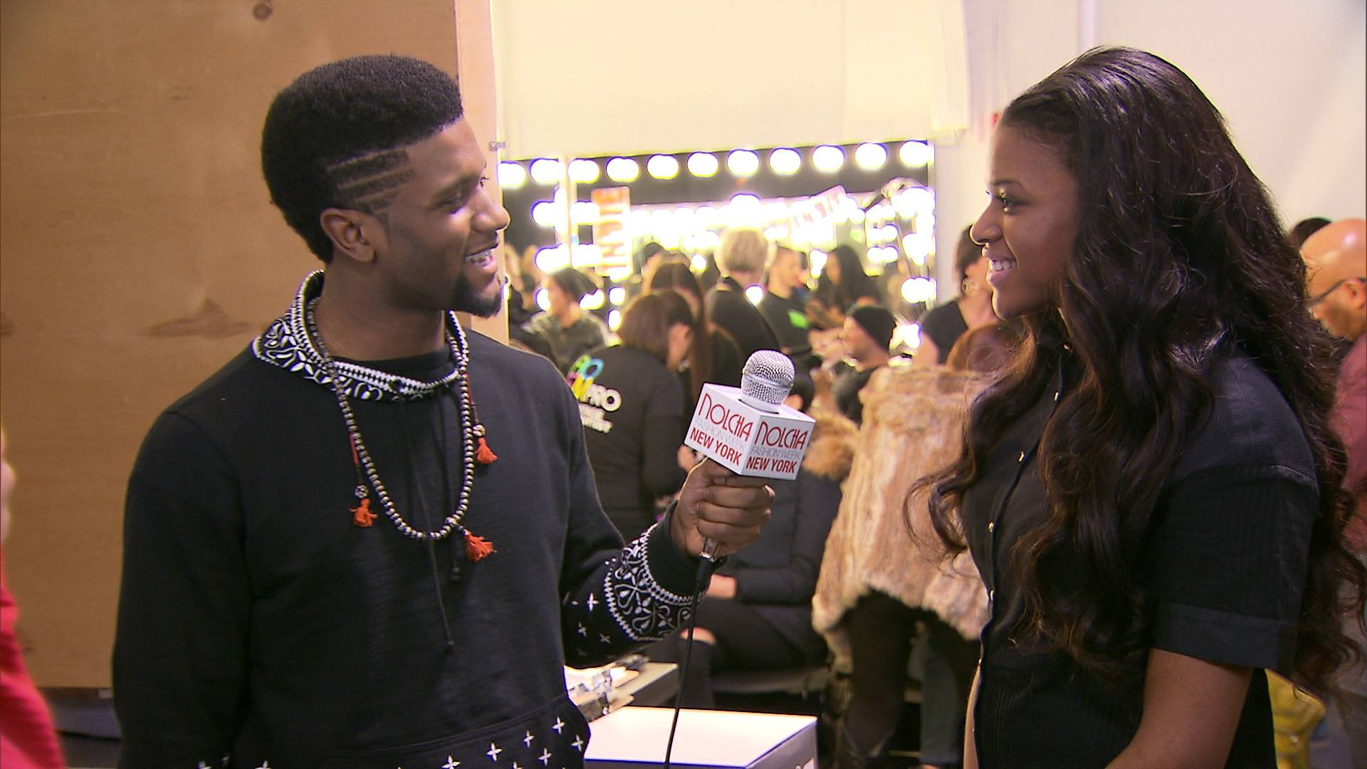 We're Proud - We got our entire life while Stink took interviews on the red carpet at NYFW.  (Photo: BET)