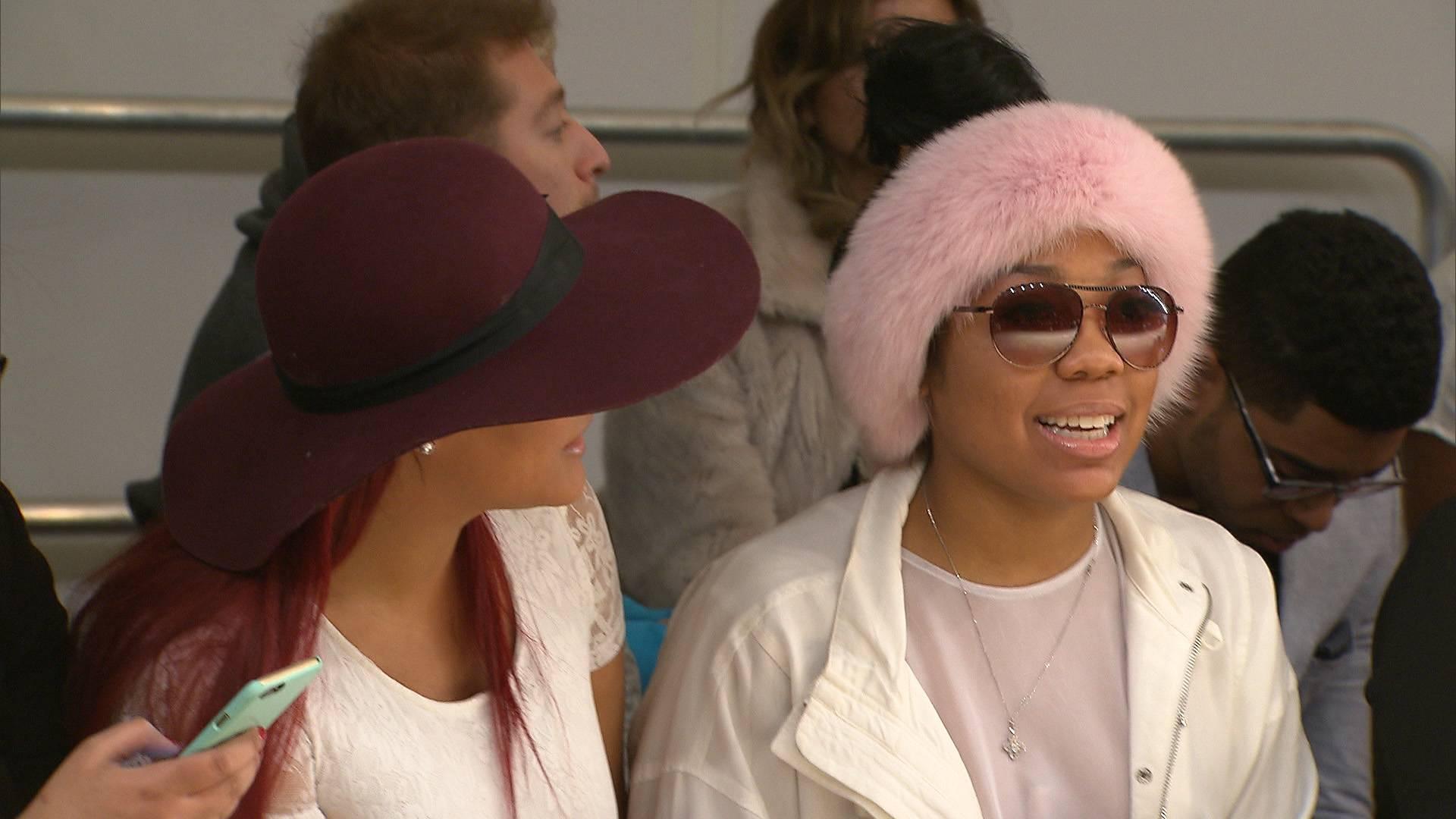 Gawjus - We had to add Nana wearing that beautiful pink head muff. (Photo: BET)