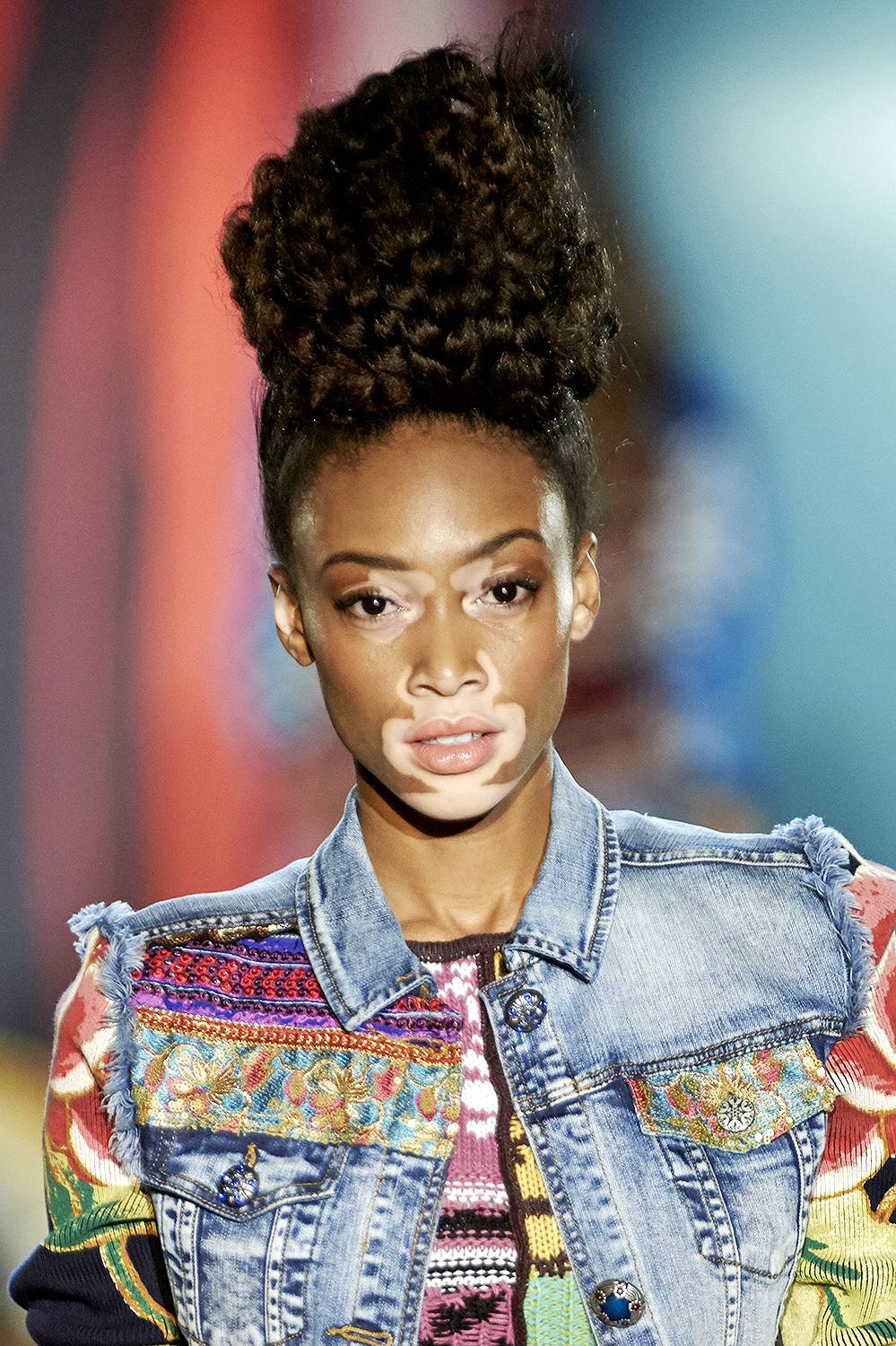 Winnie Harlow - A unique beauty that's changing the landscape of modeling one campaign at a time. (Photo: Carlos Alvarez/Getty Images)