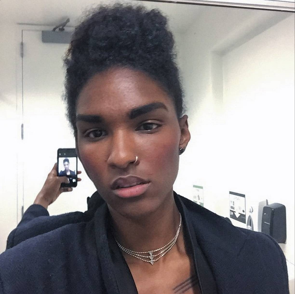 Ari Fitz - This young lady is breaking barriers with her androgynous look. And might we add that her eyebrows are on fleek.  (Photo: Ari Fitz via Instagram)