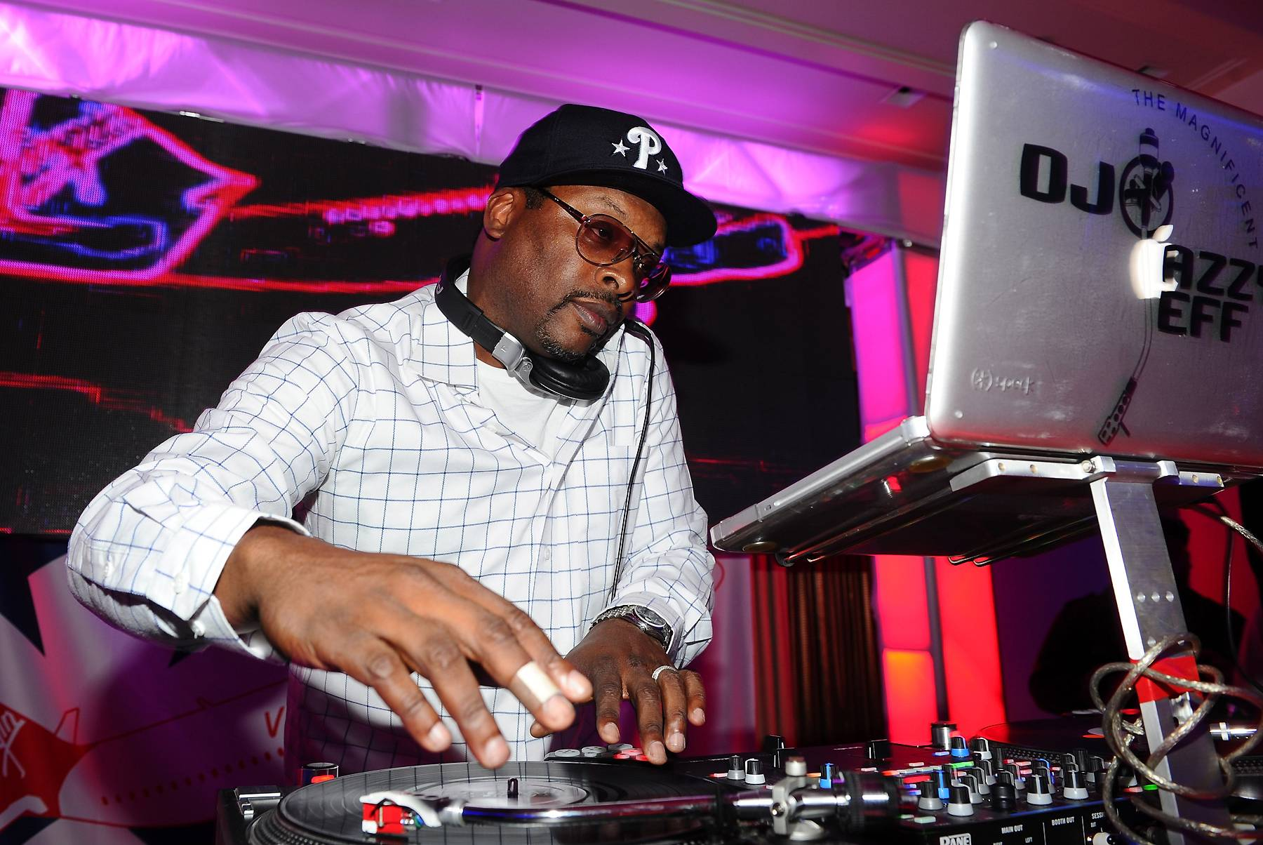 14. DJ Jazzy Jeff - DJ Jazzy Jeff's legacy extends back to the 1980s, when he was one of Philly's illest turntablists and party rockers, credited with popularizing the transformer scratch along with Cash Money. He went worldwide with Will Smith, aka the Fresh Prince; their massive crossover hits propelled them to the small screen with the breakthrough sitcom The Fresh Prince of Bel-Air, which Jeff co-starred in. More recently, Jeff's Touch of Jazz production crew has been an instrumental part of Philly's soul and hip hop scene, banging out beats for Musiq Soulchild and Jill Scott.   (Photo: Michael Buckner/Getty Images)