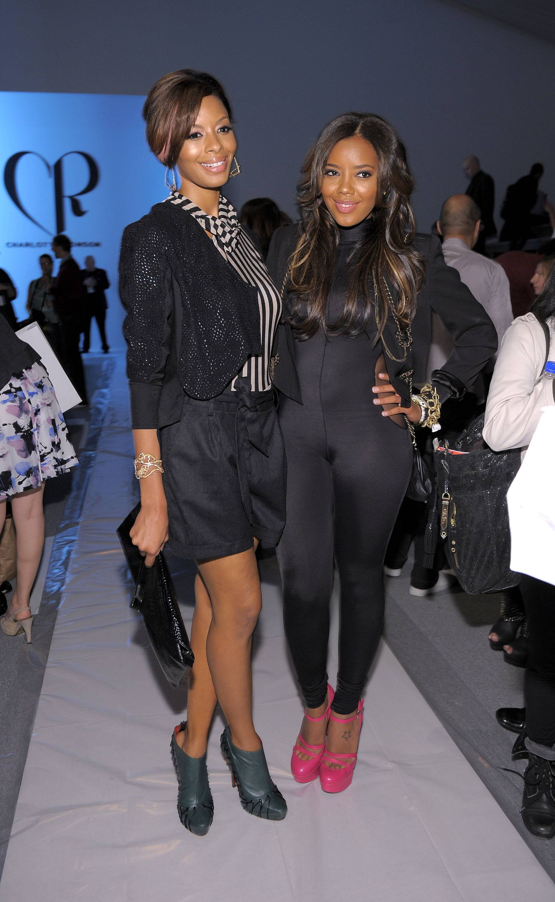 Vanessa andAngela Simmons - A sister?s bond is like no other and these two are always stuck together like glue. Angela and Vanessa are building their brand and a life as best friends.  (Photo: Michael Loccisano/Getty Images for IMG)