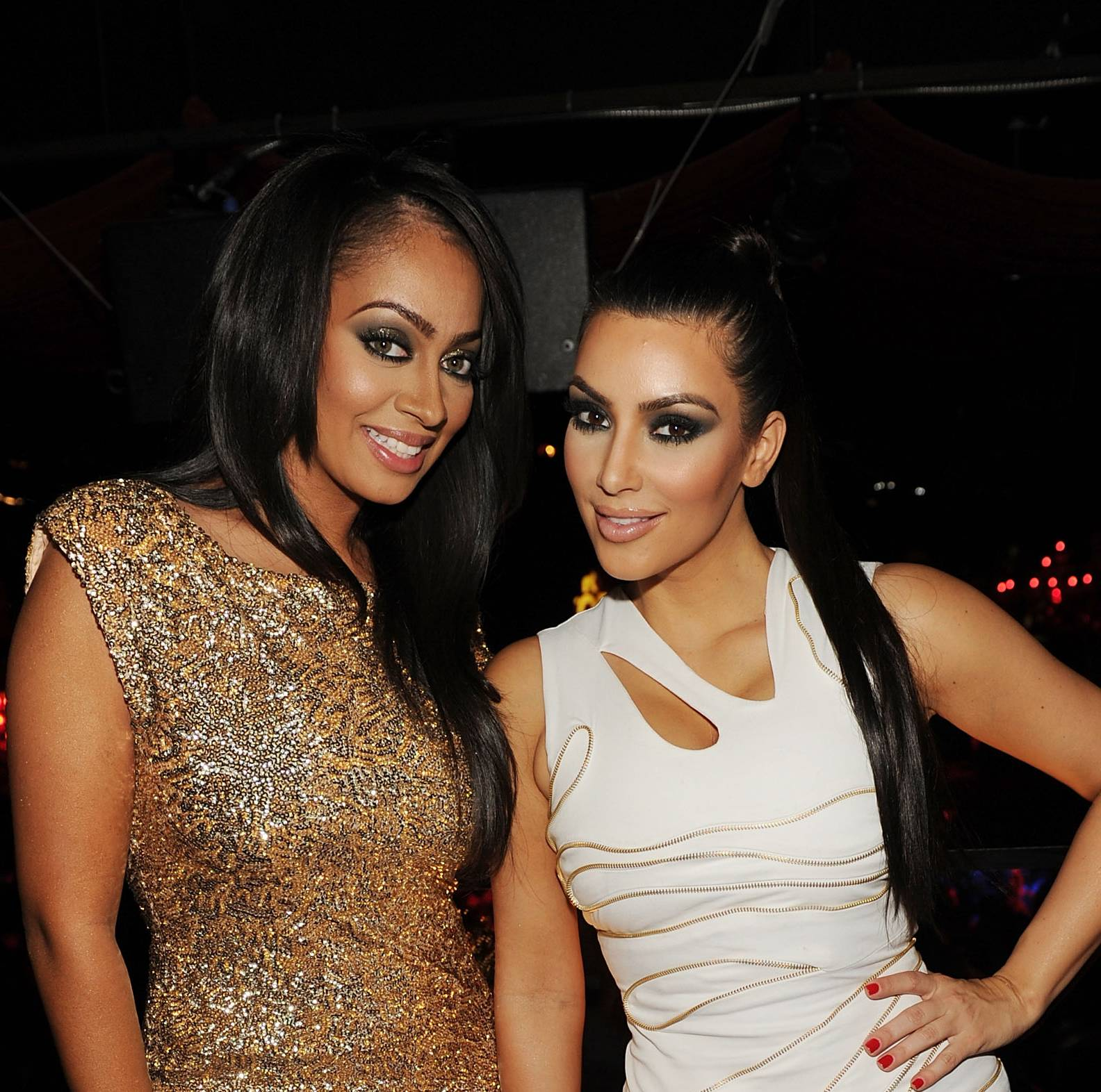 Lala AnthonyandKim Kardashian - Kim Kardashian and Lala share a love for family, mini dresses, reality shows and much more. These BFFs are always lunching, shopping and catching a courtside view together.   (Photo: Denise Truscello/WireImage)