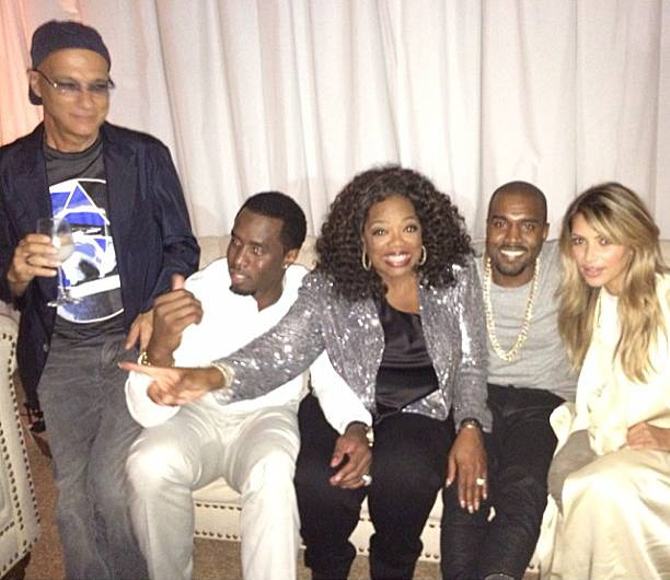 Kim Kardashian @kimkardashain - Kim Kardashianmade her post-baby return to the party scence at a pre-Emmy celebration this year with her manKanye Westand some big stars. Music exec Jimmy Iovine,Diddy, andOprahjoined the couple for some laughs during a baby-free date night. This is the circle everyone dreams of being in.(Photo: Kim Kardashian via Instagram)