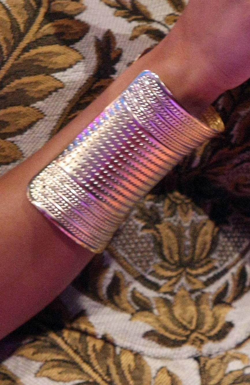 Shielded - Like Wonder Woman, Keshia Chante rocks this gold cuff on 106. (Photo: Bennett Raglin/BET/Getty Images for BET)