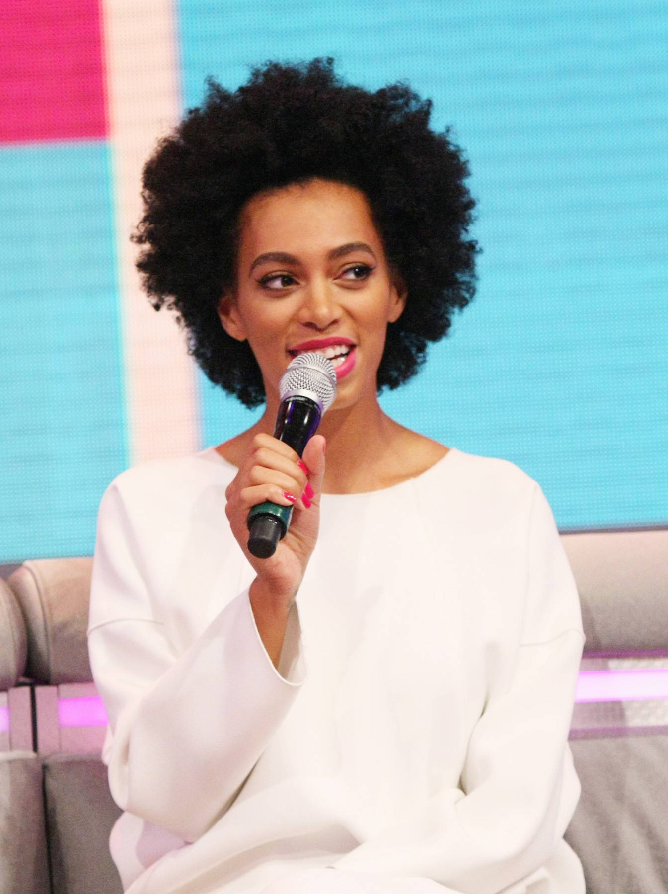Black Beauty - Solange Knowles chats on the 106 couch with Bow Wow and Keshia Chante.(Photo: Bennett Raglin/BET/Getty Images for BET)