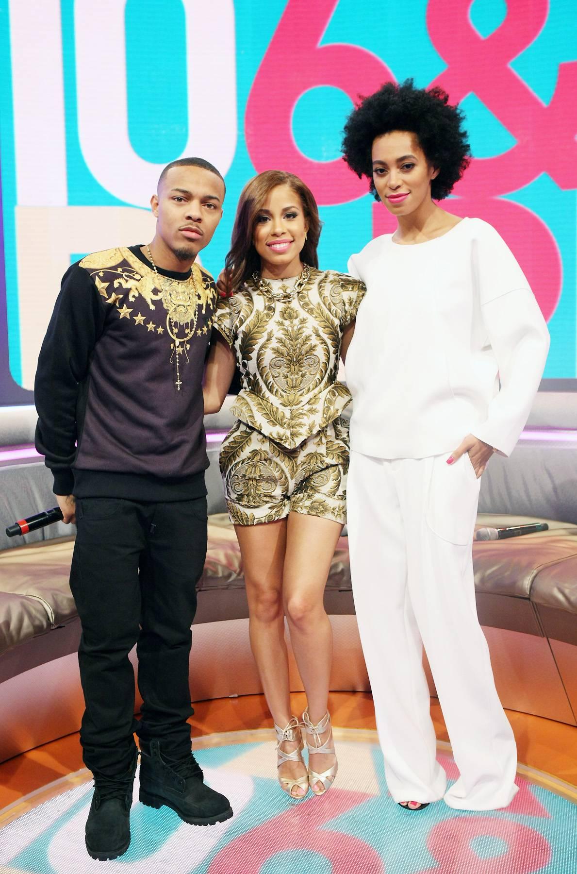 Fashion Fair - Bow Wow, Keshia Chante and Solange Knowles all pose for the camera. (Photo: Bennett Raglin/BET/Getty Images for BET)