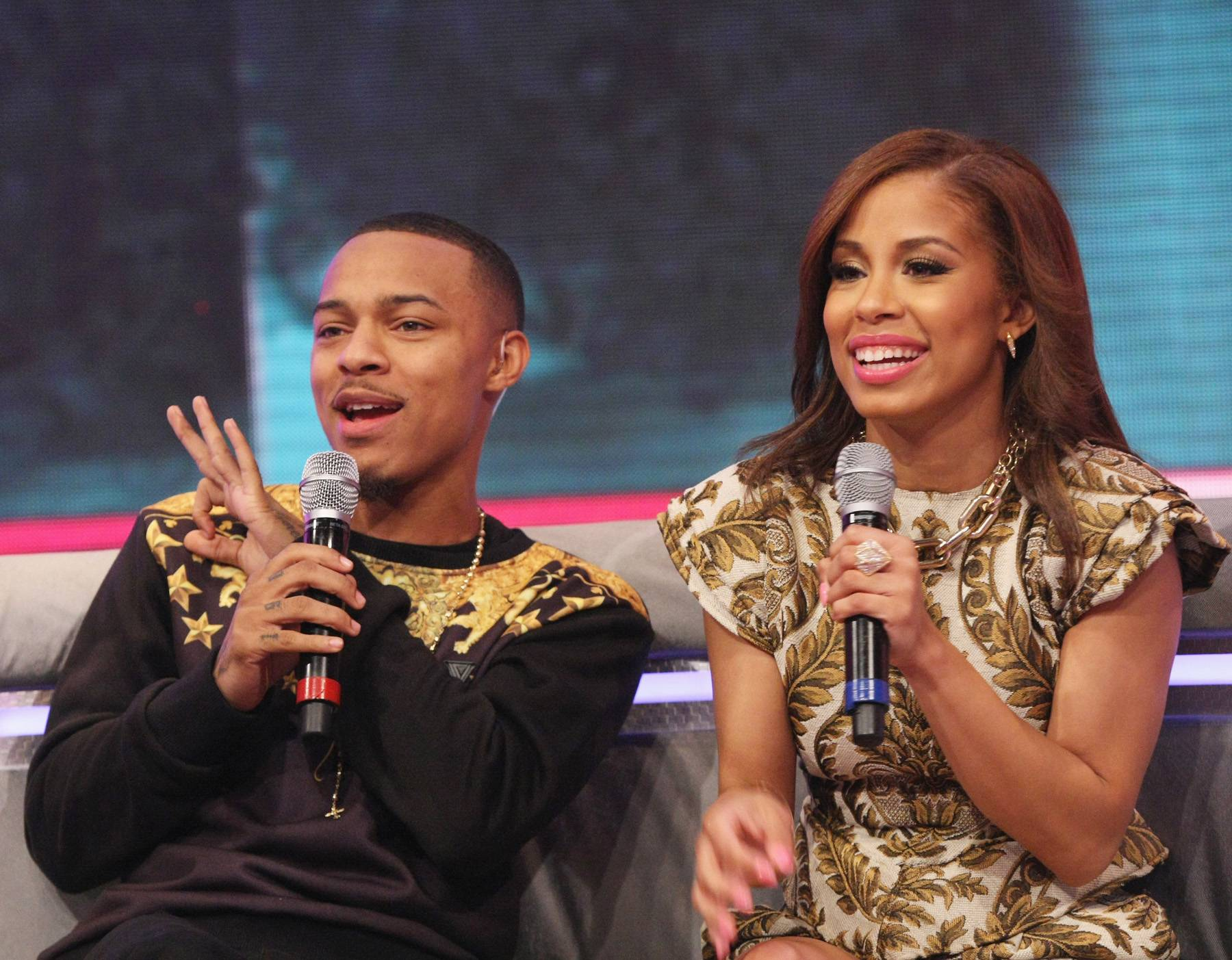 Oh! - Bow Wow and Keshia Chante excited to host on 106. (Photo: Bennett Raglin/BET/Getty Images for BET)