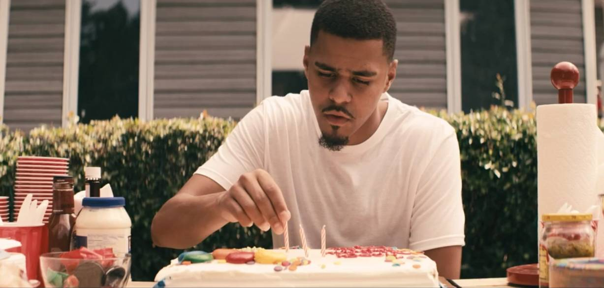 """J. Cole Feat. TLC - """"Crooked Smile"""" - The Roc Nation fire spitter is up for Best Hip Hop Video for his uplifting TLC-assisted anthem. Cole World's smile might not be crooked any longer if he clinches this award.(Photo: Roc Nation)"""