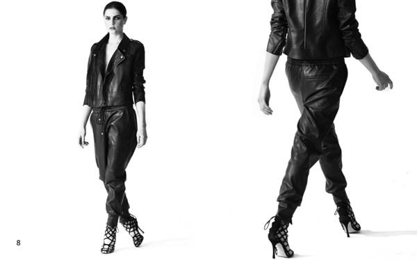 Leather for the Weather - For a walk on the wild side, couple this Angela by Angela Simmons black leather blazer and black leather drawstring pants. Get into it!  (Photo: Courtesy of Jason Leiva for Angela by Angela Simmons)