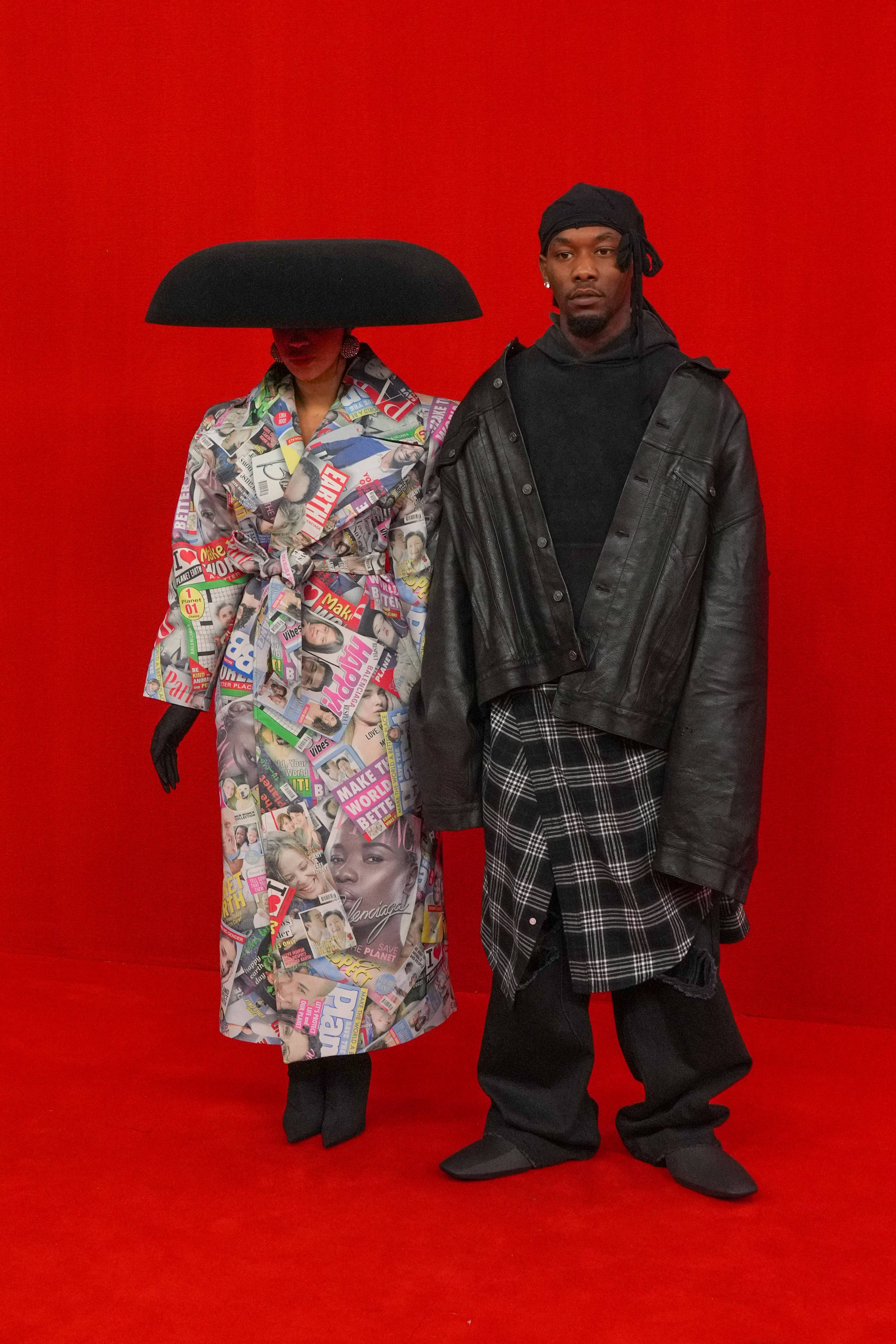 """Paris Fashion Week-Balenciaga Runway - During Paris Fashion Week,Cardi BandOffsetwere an entire mood when they showed up to the Balenciaga show wearing fashions from the luxury brand. Showcasing new looks from the Spring/Summer 2022, Offset took the runway as his proud wife cheered him.""""Popped out to s/s 22 @balenciaga show! So proud of my husband @offsetrn who walked the show,"""" Cardi captioned photos on Instagram.We love the support! (Photo by Peter White/Getty Images)"""