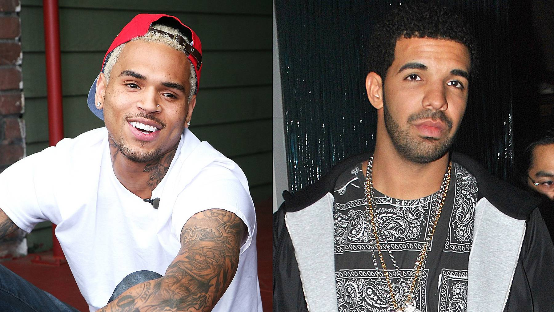 """Chris BrownSpeaks Out Following Brawl With Drake - Before they were cordial enough to join forces in the name of music,Chris Brown and Drake were noticeably at odds, and the public was well aware. Their beef reached new heights when the pair's entourages got into a physical altercation at a nightclub. Following the incident, Brown tweeted about what went down, but deleted it almost immediately after.Tweet: """"Ok! N----s stand behind security!!!! Ok! U don't pay them enough!""""(Photos from left: Maury Phillips/WireImage, JD Pht Bx & MCGM/Splash News)"""