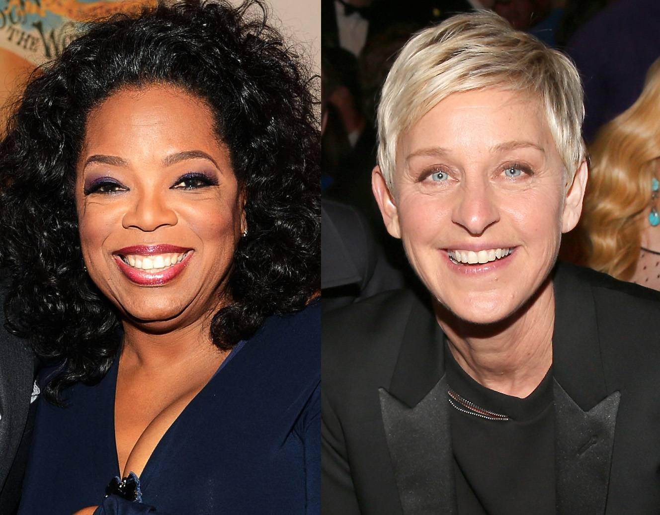 Oprah Winfrey - Oprah Winfrey supported her friend Ellen DeGeneres by guest starring on a 1997 episode of DeGeneres' sitcom, Ellen, where DeGeneres' character reveals she is gay to Winfrey, who plays her therapist. That same year, DeGeneres came out publicly in an appearance on The Oprah Winfrey Show. (Photos from left: Larry Busacca/Getty Images, Christopher Polk/Getty Images)