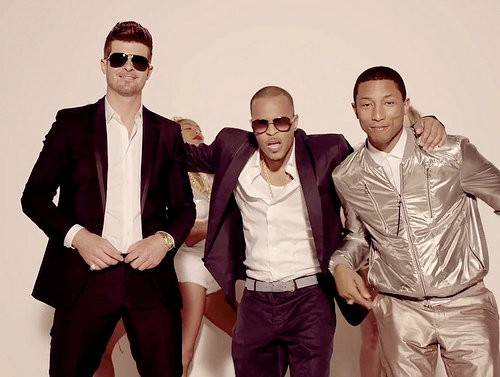 """Song Of The Year: Robin Thicke feat. Pharrell & T.I. - """"Blurred Lines"""" - The blue-eyed soul singer had the world grooving to his summertime anthem.  (Photo: Star Trak)"""