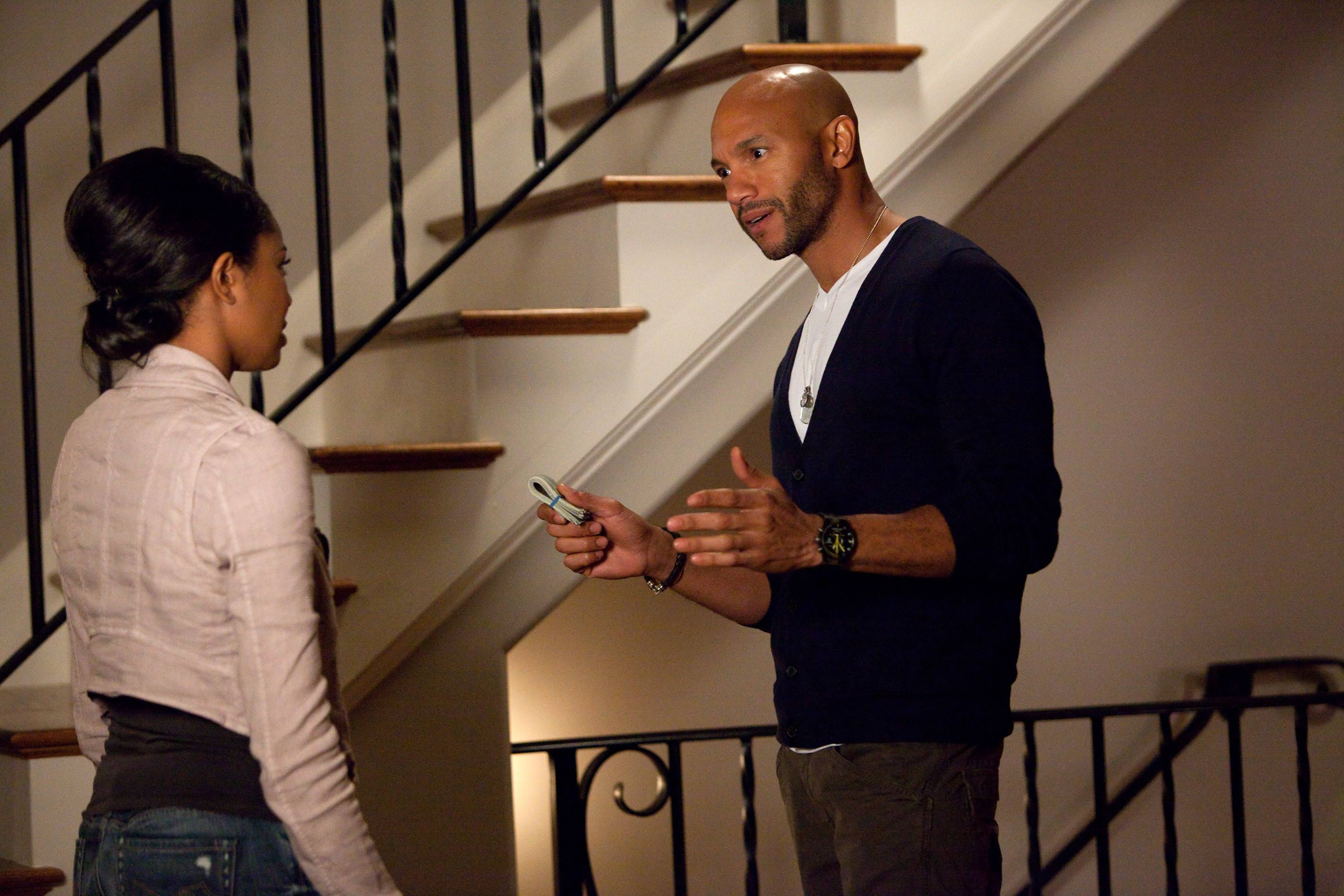 David Paulk and Mary J  - No matter how involved Stephen Bishop's character, David, is with another woman, Mary Jane just can't let go.(Photo: BET)