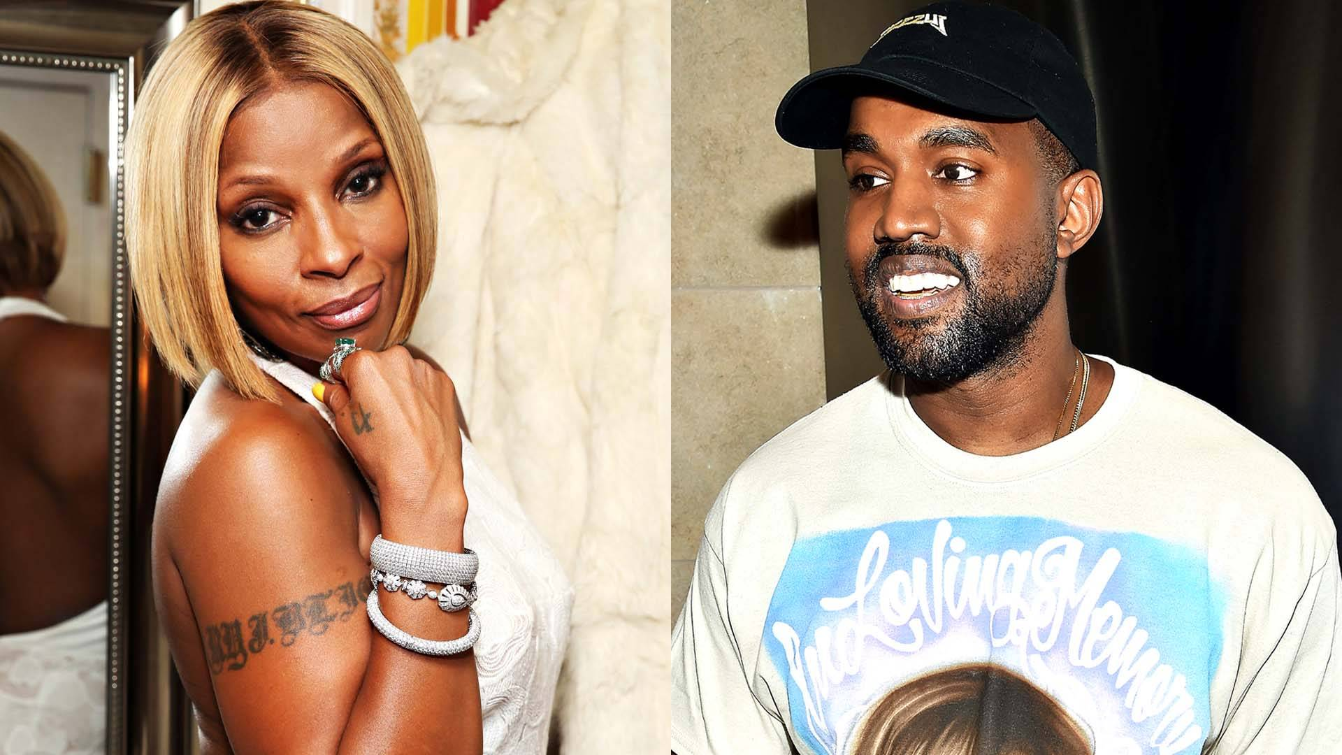 MARY J. BLIGE FT. KANYE WEST ? LOVE YOURSELF - (Photo from left: Jeff Kravitz/FilmMagic/Getty Images, Dimitrios Kambouris/Getty Images)
